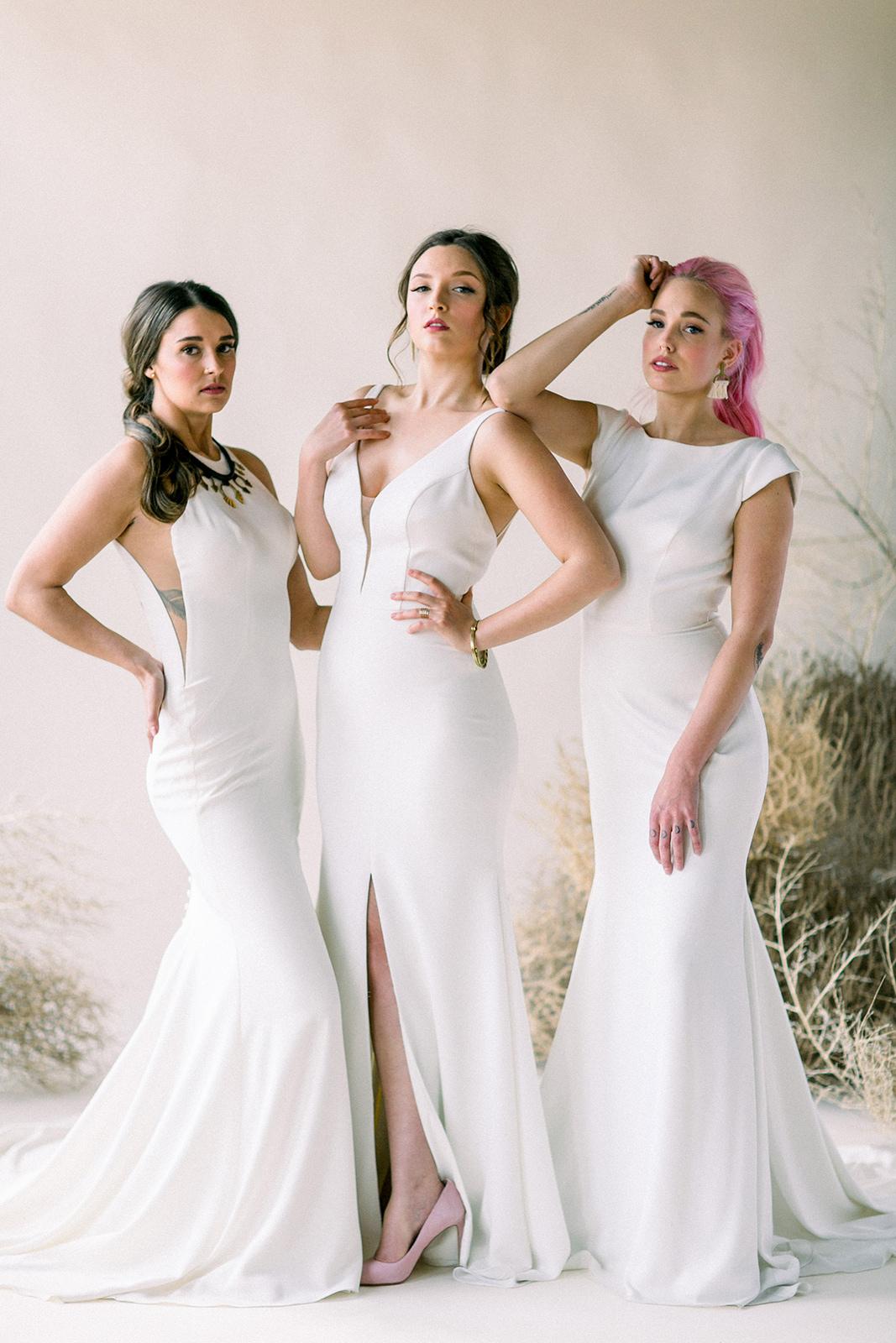 Desert Wedding | Modern Wedding | Minimal Wedding | Same Sex Wedding | Niki Rhodes Photo | Joy Wed | Canadian Wedding Blog | Fine Art Wedding Blog | Stacey Foley Design