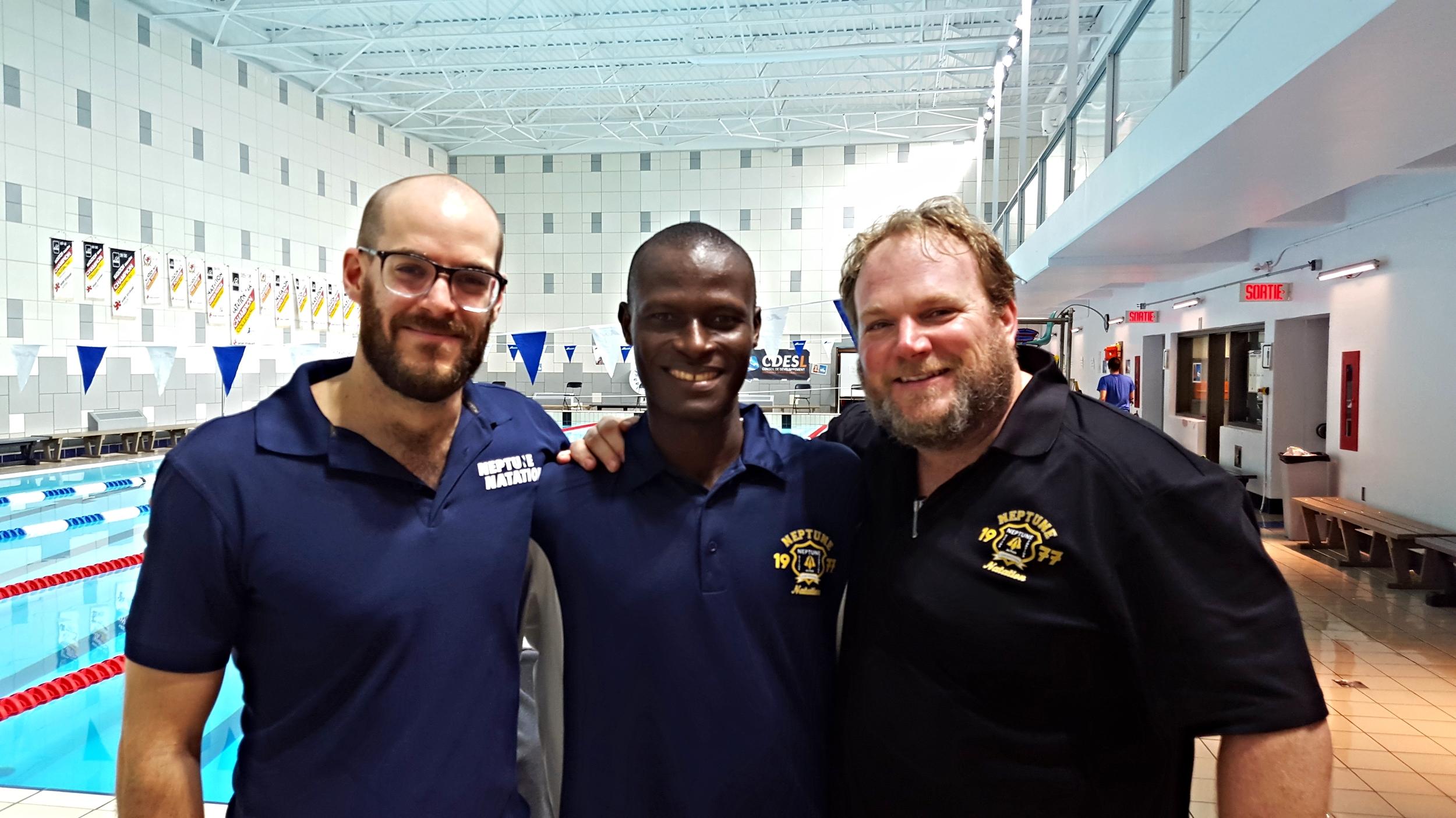 Coach Marc-André, Damien et coach Alex