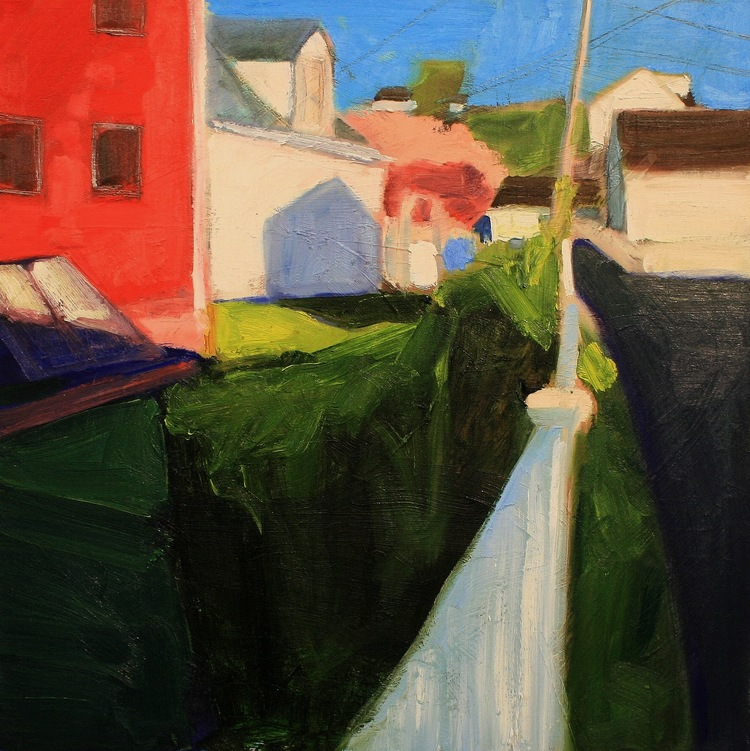 Pete Hocking,  Good Fences no. 5 , oil on canvas, 24 x 24 in
