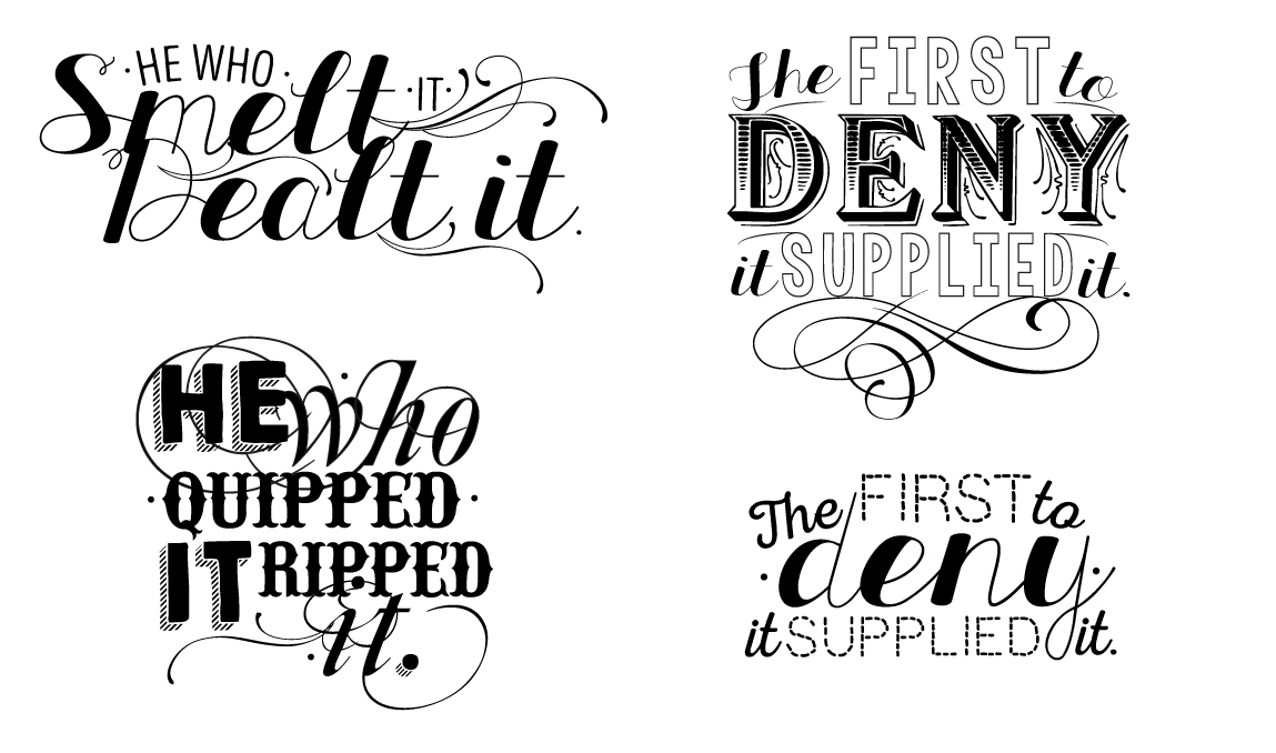 'Conventional Wisdom'  Typography project