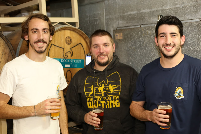 Assistant brewer Mark Russell, Head Brewer Vince Desrosiers, Assistant Brewer Sasha Certo-Ware. Photograph by  Stephen Lyford .