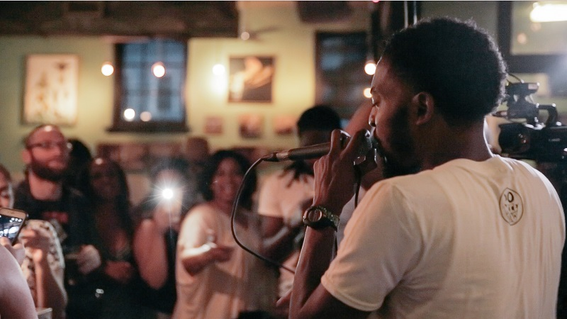 Chill Moody performing at Dock Street on August 9th. Photo: Harrison Kendall