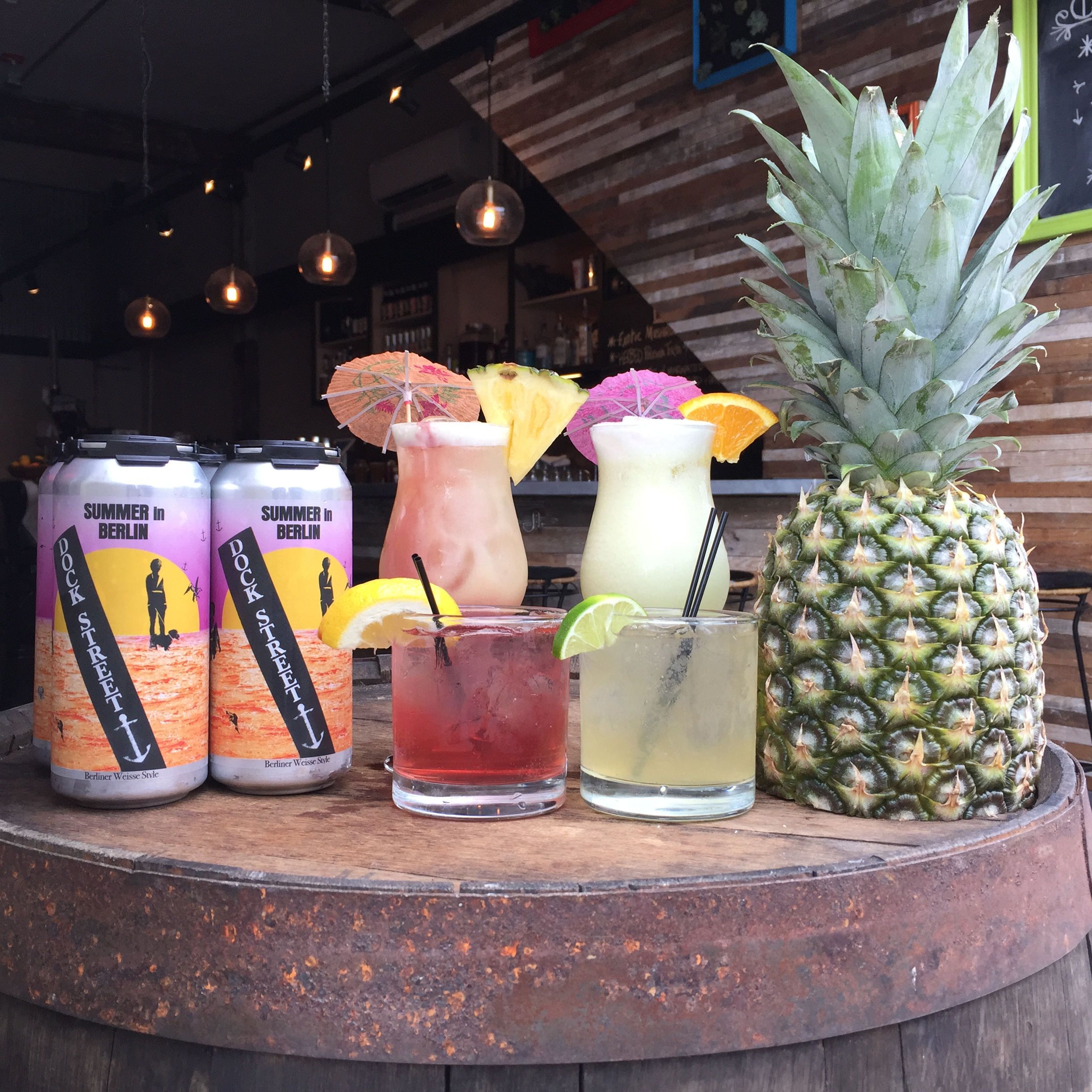 Back Row: Summer in Berlin Cans (New!), No Ties, Honey Don't. Front Row:Gin in Berlin, Salt 'n Smokey.
