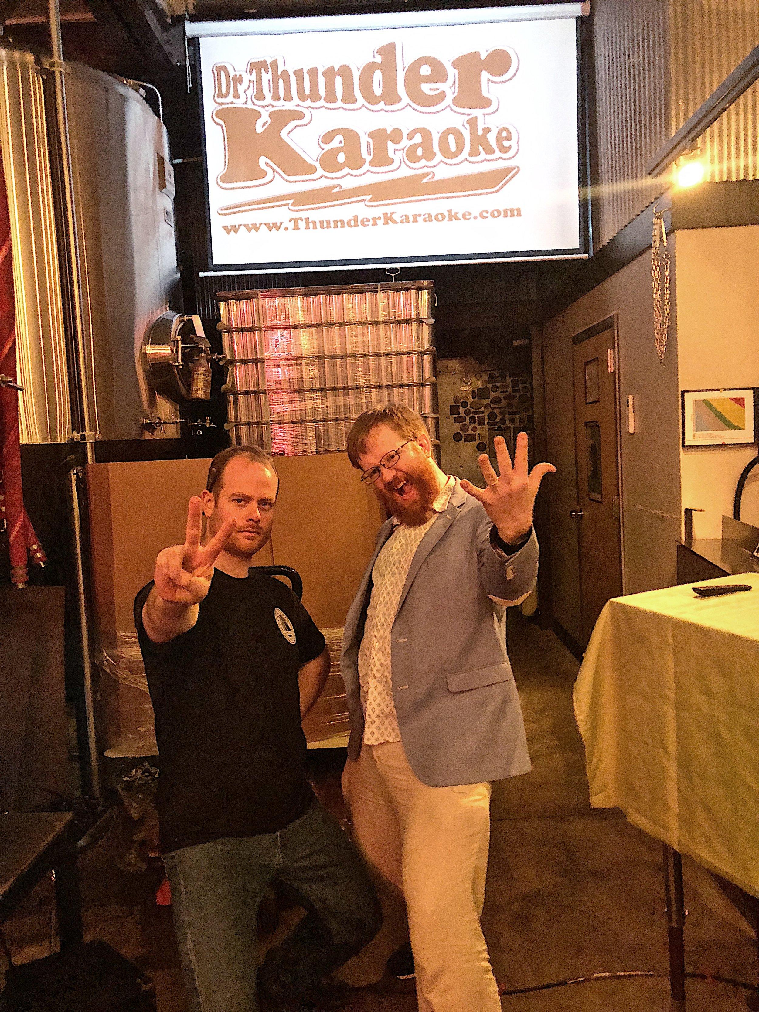 dr thunder karaoke.JPG
