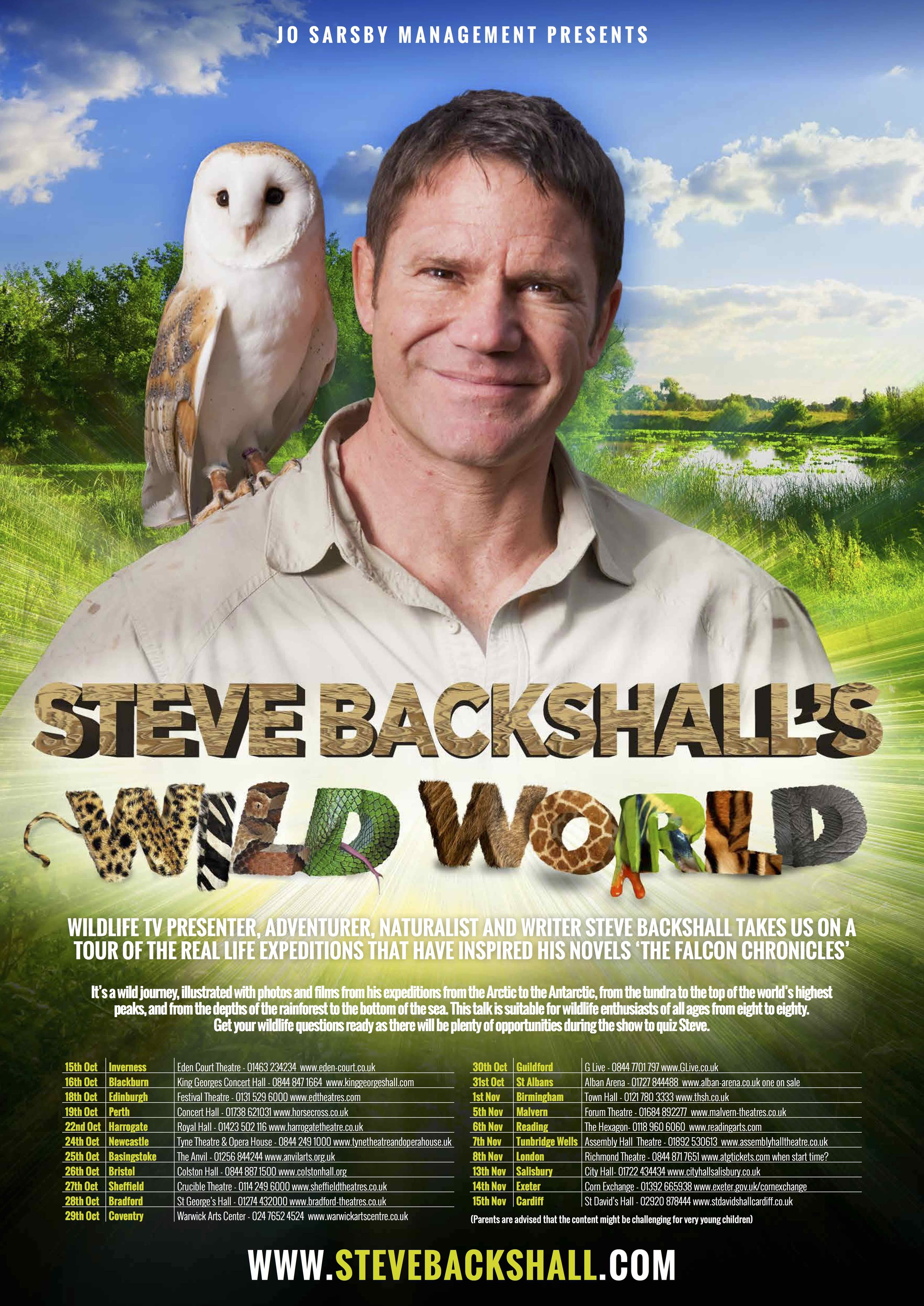 Steve Backshall Wild World Tour 2015 poster