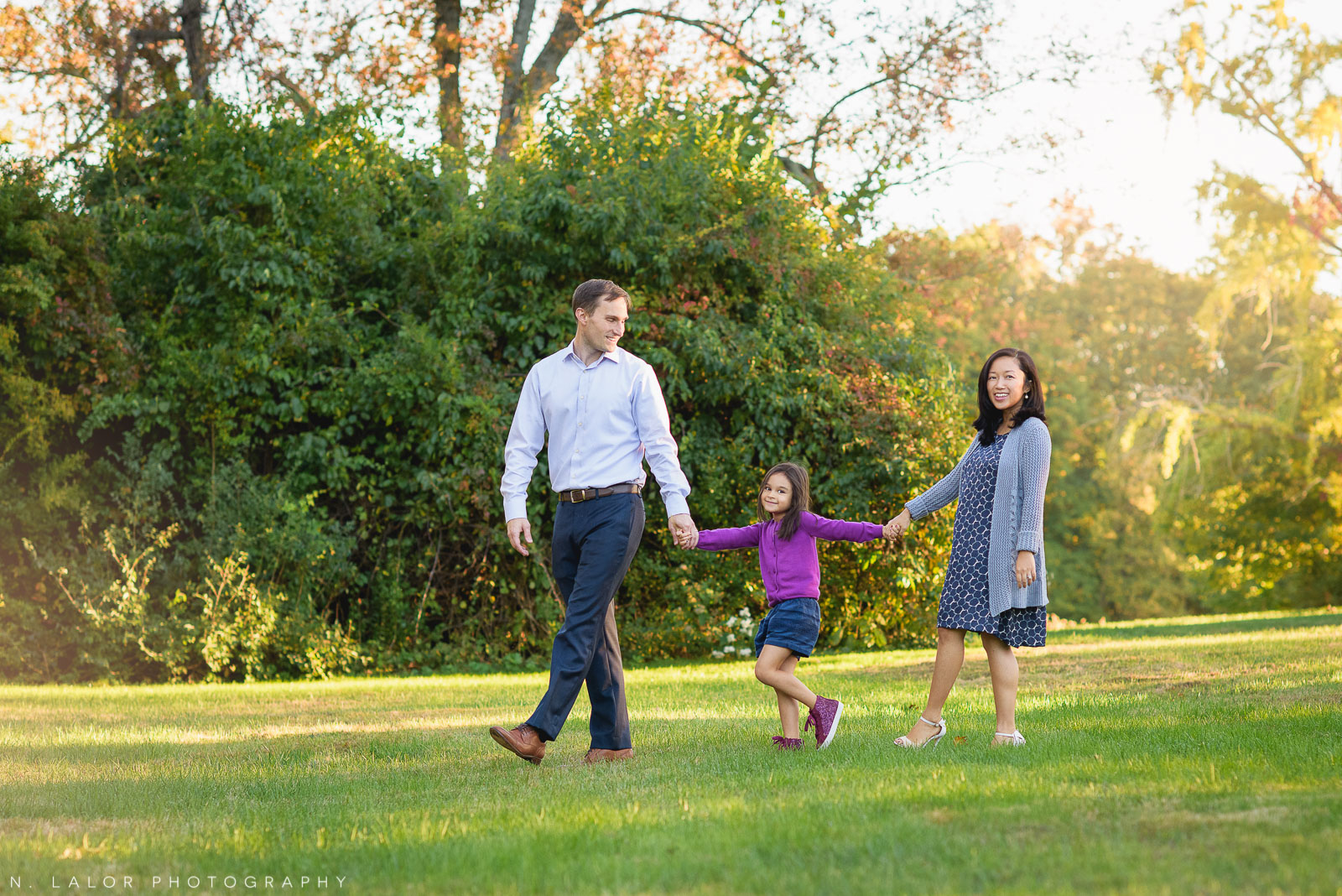 CT family photographer N. Lalor Photography captures families as they really are. Waveny Park, New Canaan, Connecticut.
