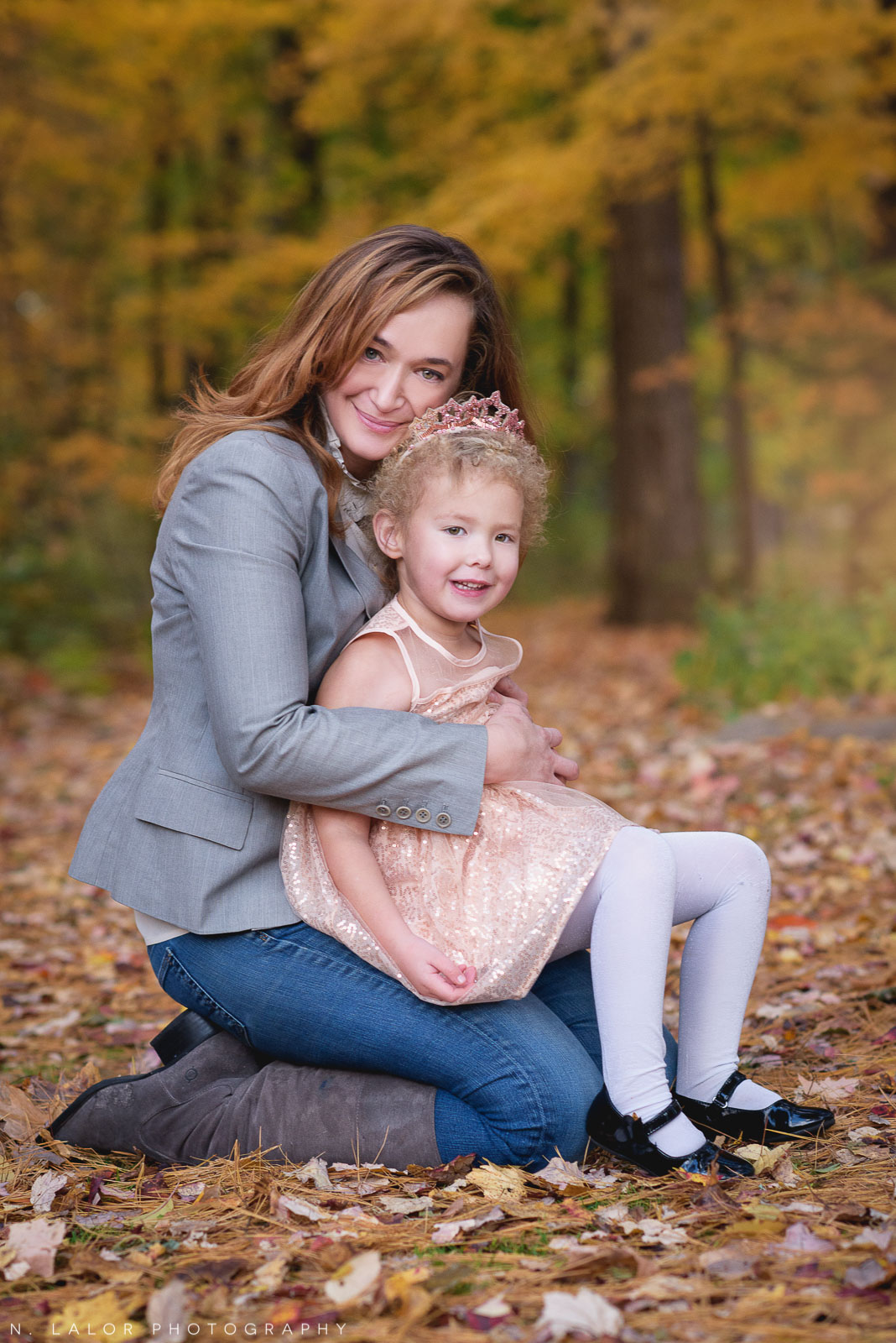 Mom and her daughter. Lifestyle portrait by N. Lalor Photography. New Canaan Nature Center.