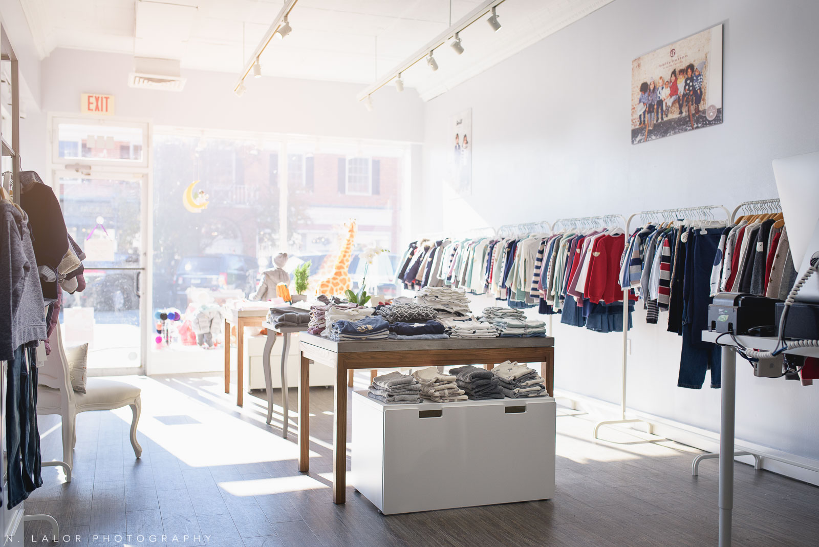 Ella & Henry kids and baby clothing boutique in New Canaan. Photo by N. Lalor Photography.