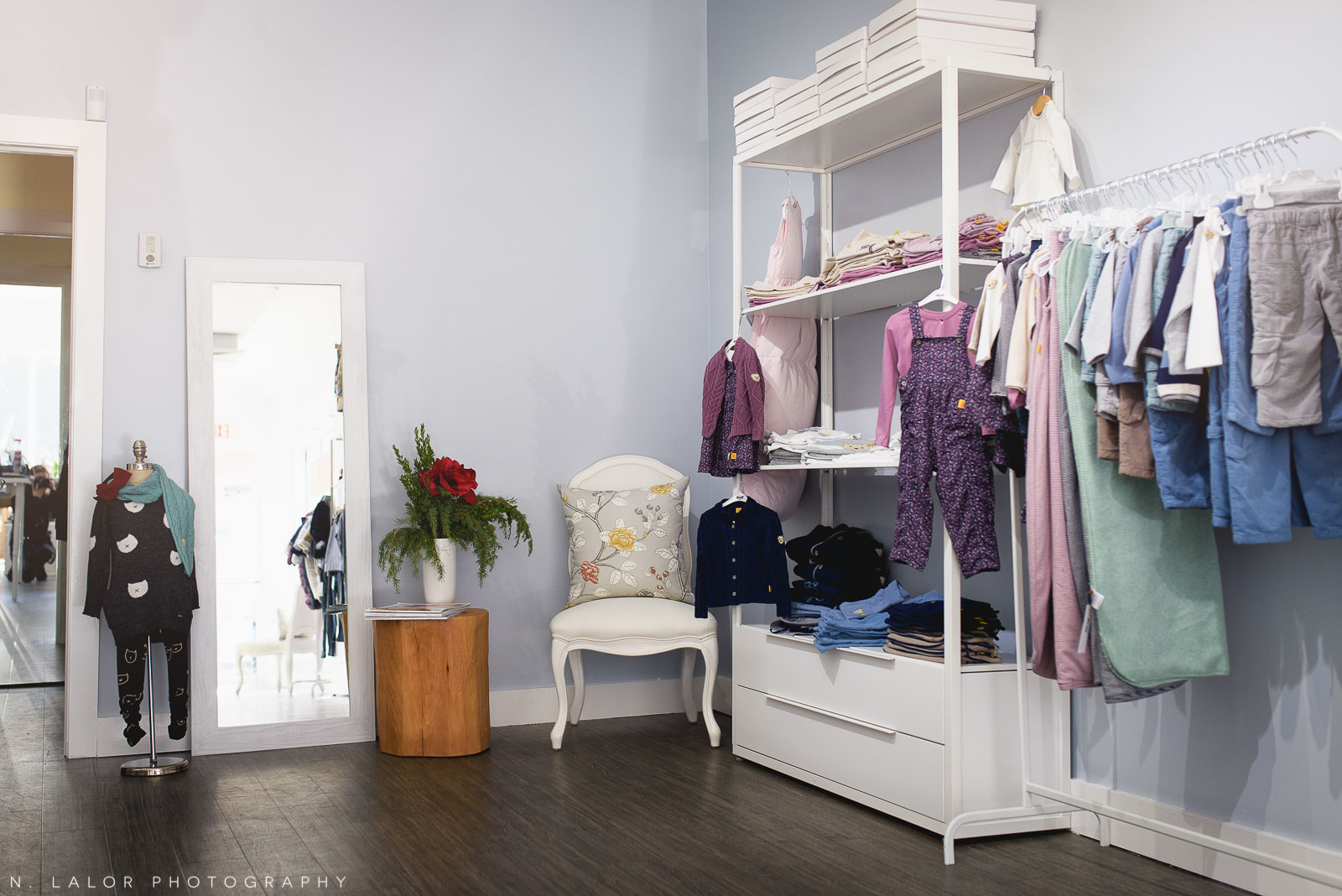 Ella & Henry children's clothing store in New Canaan. Photo by N. Lalor Photography.