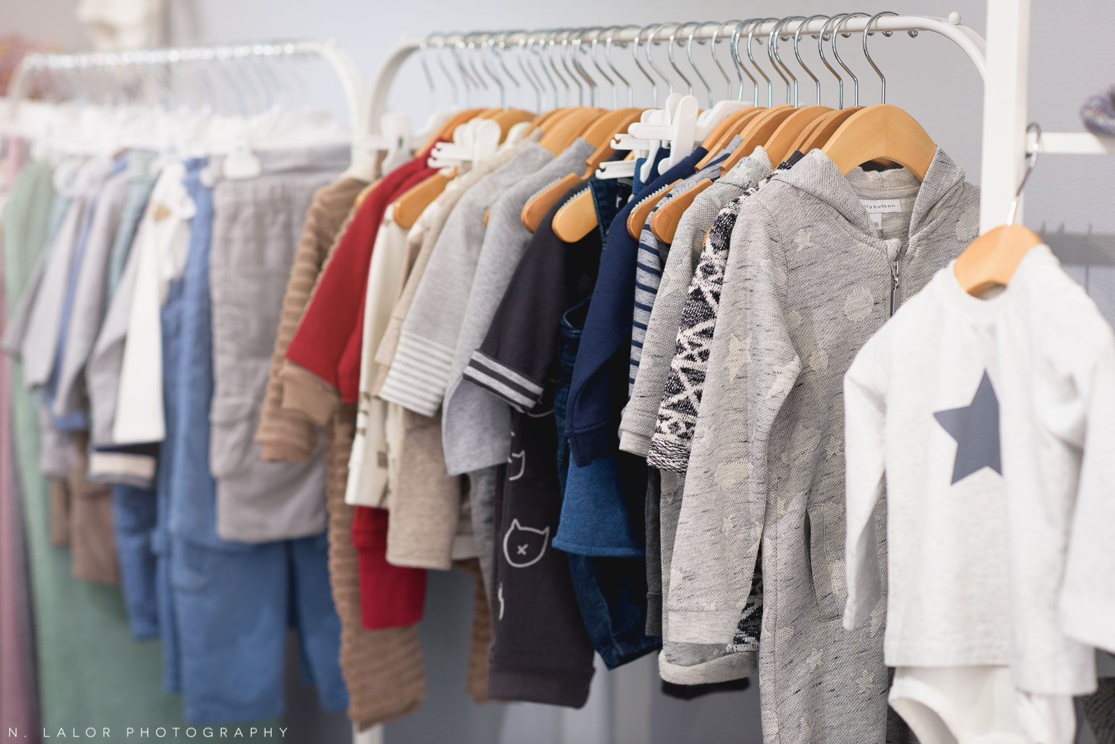 Gorgeous and durable play clothing for children at Ella & Henry in New Canaan. Photo by N. Lalor Photography.