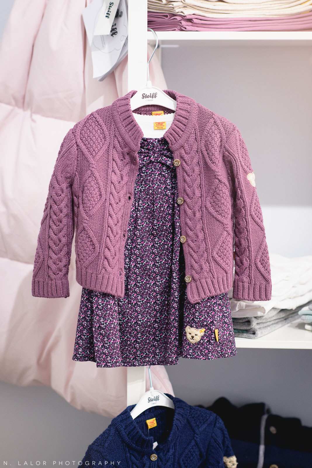 The perfect fall/winter outfit for a little girl, only at Ella & Henry in New Canaan. Photo by N. Lalor Photography.