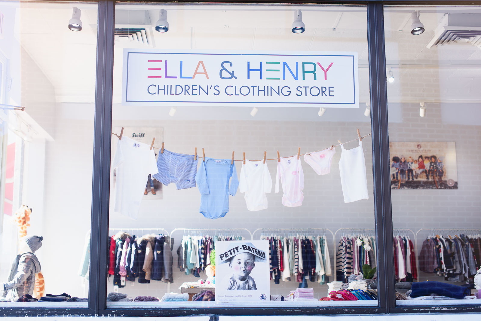 Ella and Henry kids clothing store in New Canaan Connecticut. Photo by N. Lalor Photography.