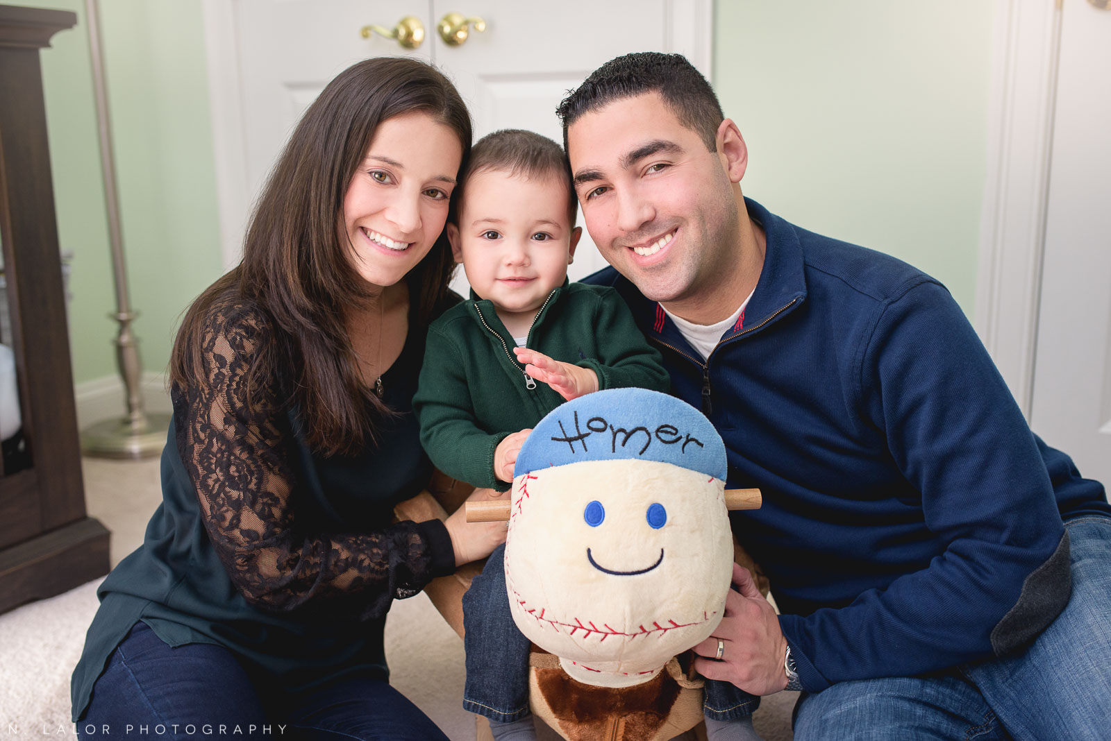 Casual family portrait in Stamford Connecticut by N. Lalor Photography.