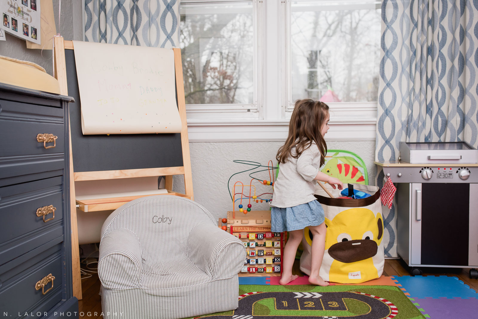 The play room. Interior shot by N. Lalor Photography. Greenwich, CT.
