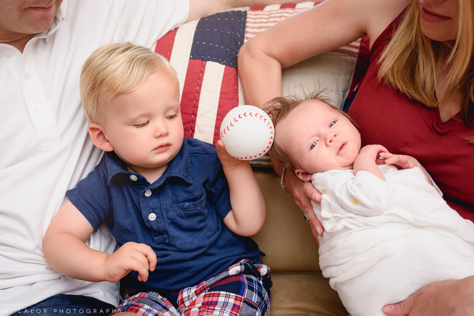 Siblings. Lifestyle family session by N. Lalor Photography. Fairfield County, Connecticut.