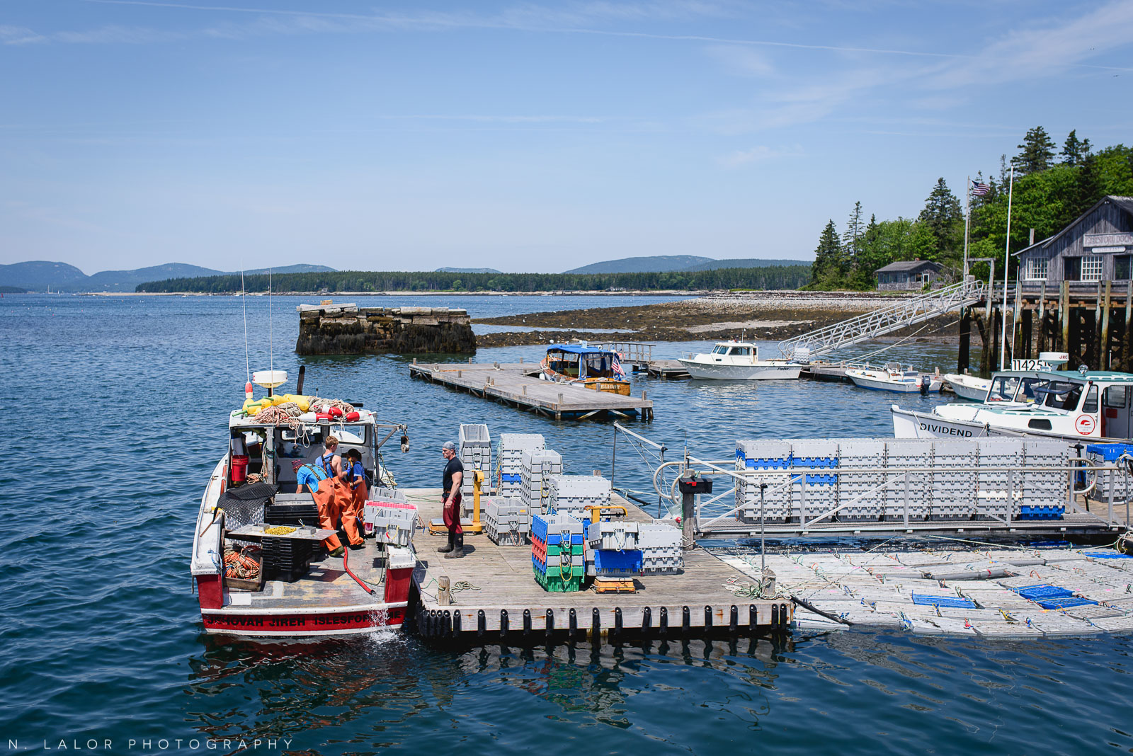 Lobster fishermen! Acadia National Park, Little Cranberry Island, Maine. Photo by N Lalor Photography.