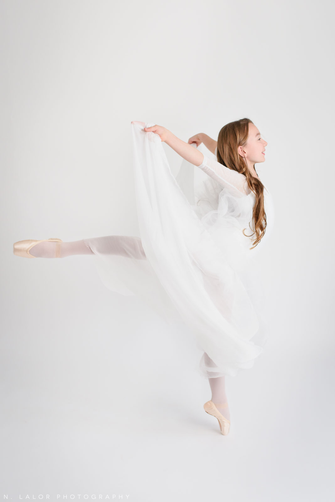 Dancing. Tween ballerina photoshoot with N. Lalor Photography. Greenwich, Connecticut.