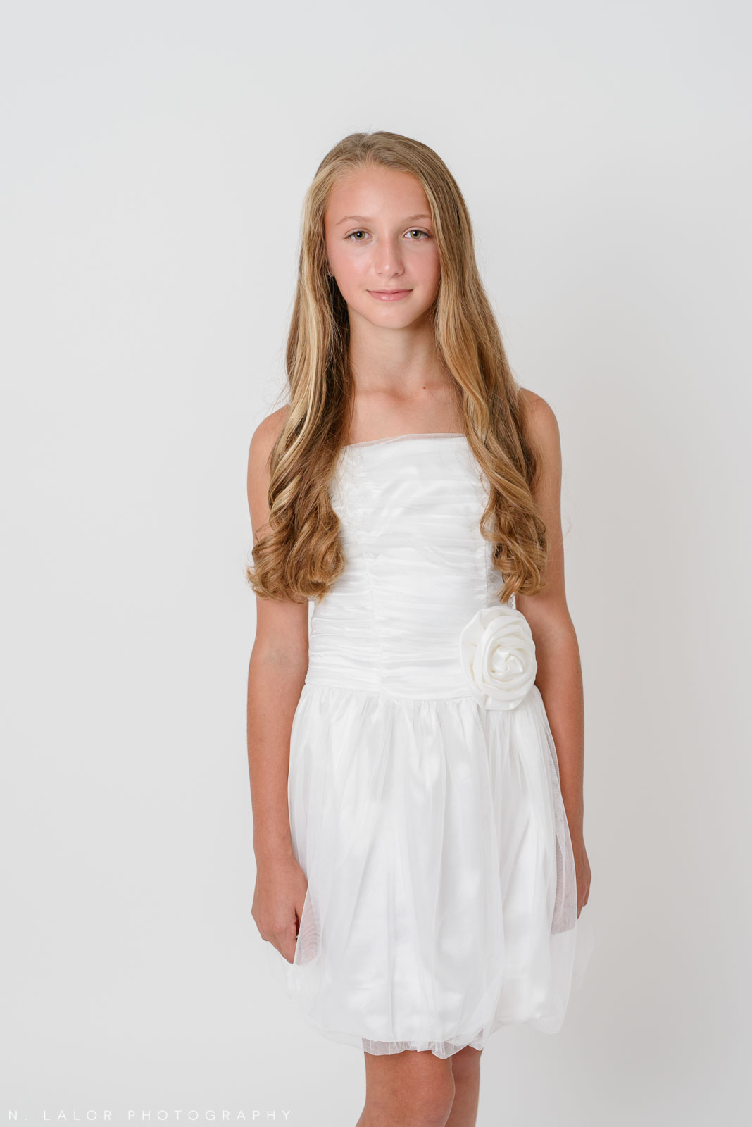 Amazing in white. Stella M'Lia tween fashion photoshoot with N. Lalor Photography in Greenwich, Connecticut.