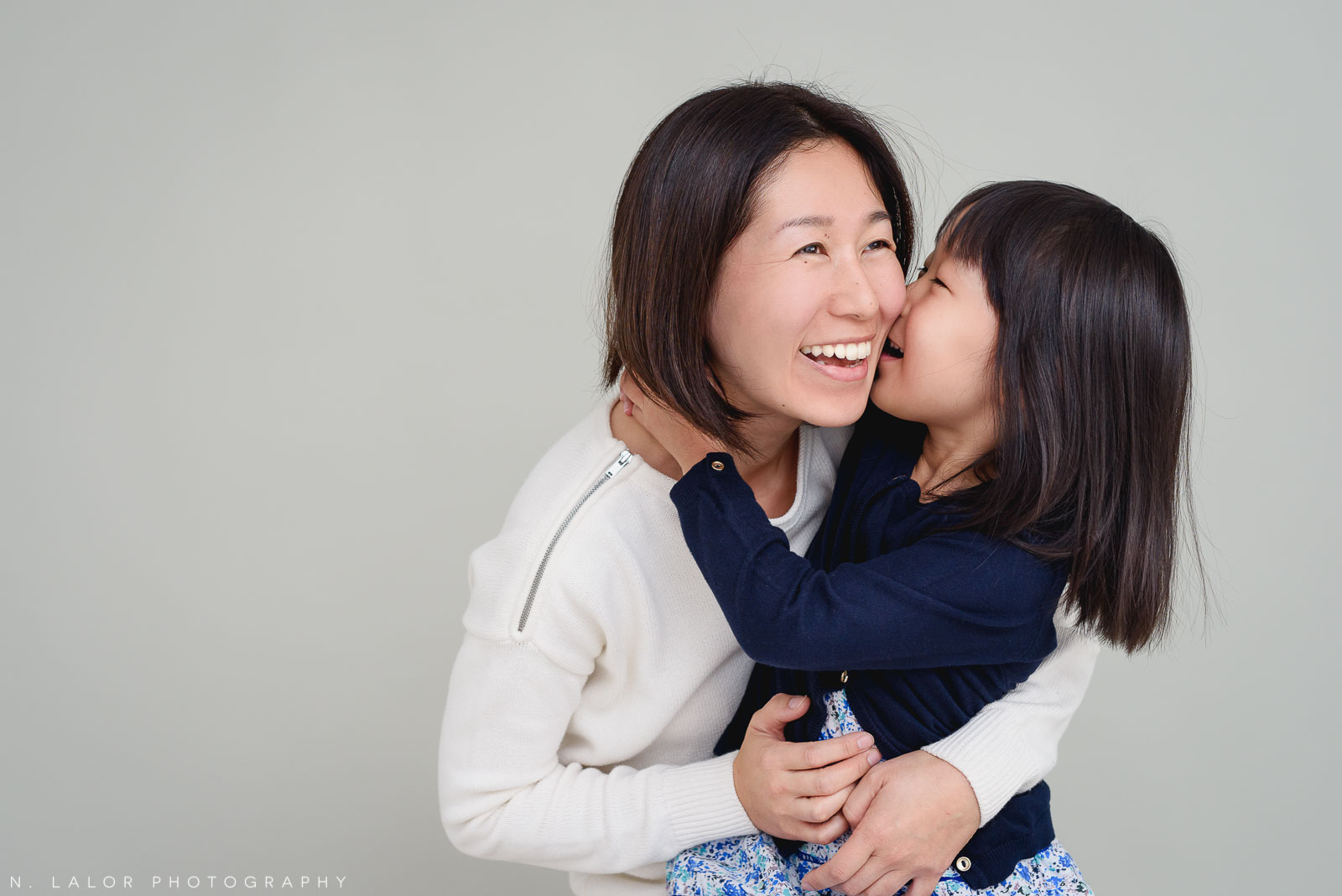 Mom with daughter. Greenwich CT Photo Studio family session by N. Lalor Photography.