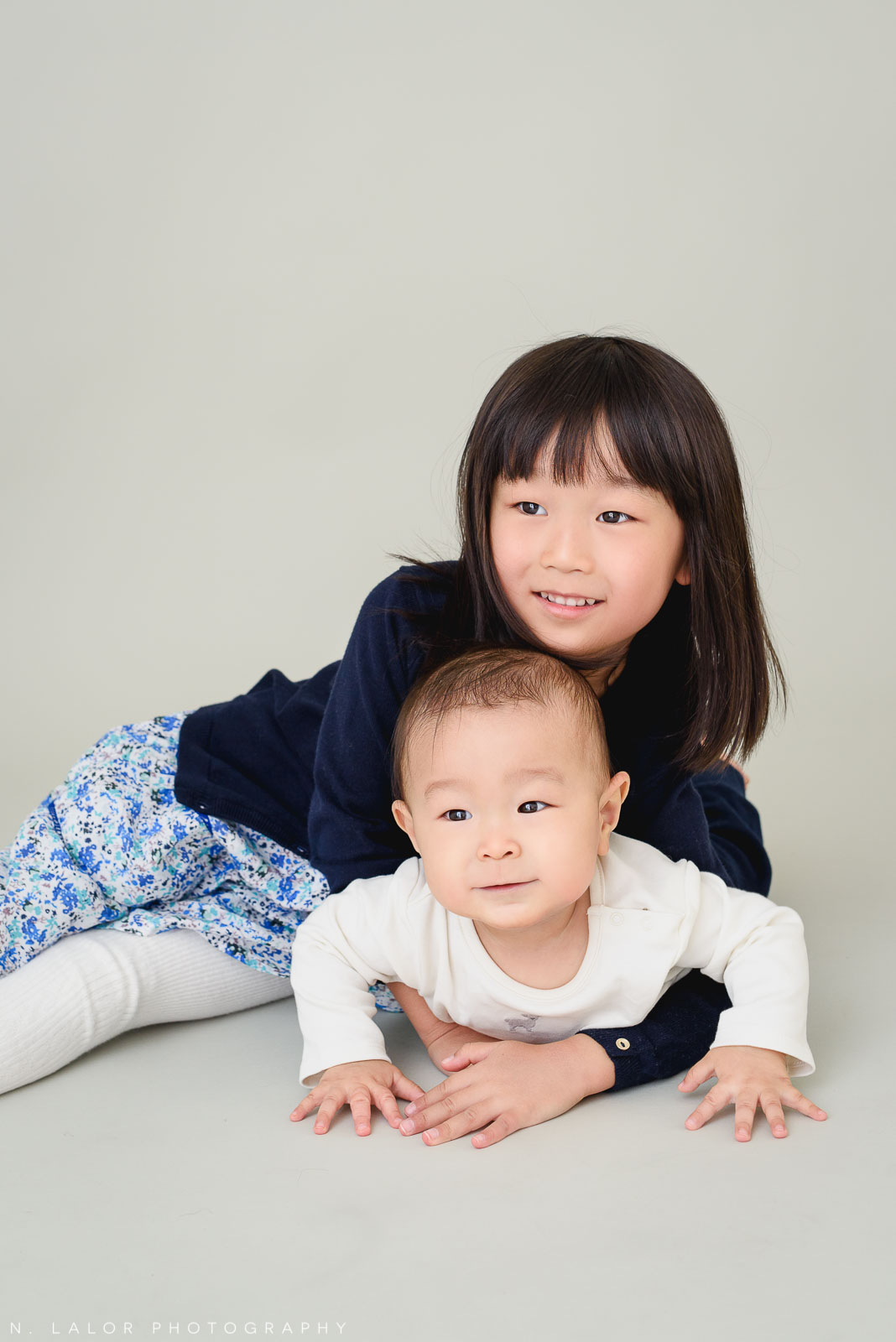Brother and Sister. Greenwich CT Photo Studio family session by N. Lalor Photography.