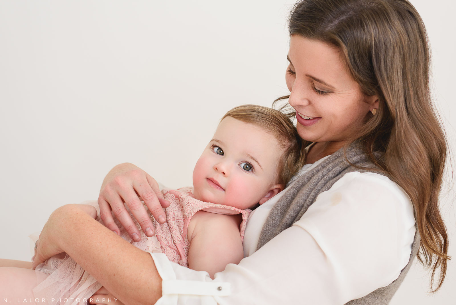 Mom and daughter together. Portrait by N. Lalor Photography. Greenwich, CT