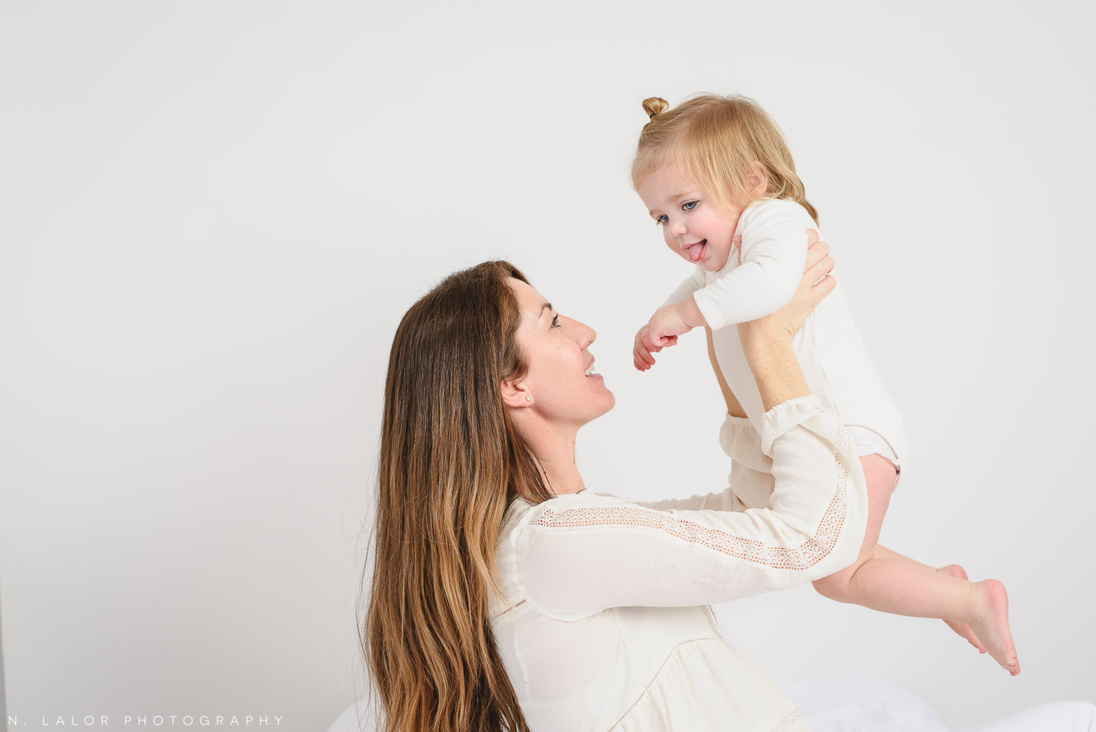 Mom and baby. Studio portrait by N. Lalor Photography, Greenwich CT family photographer.