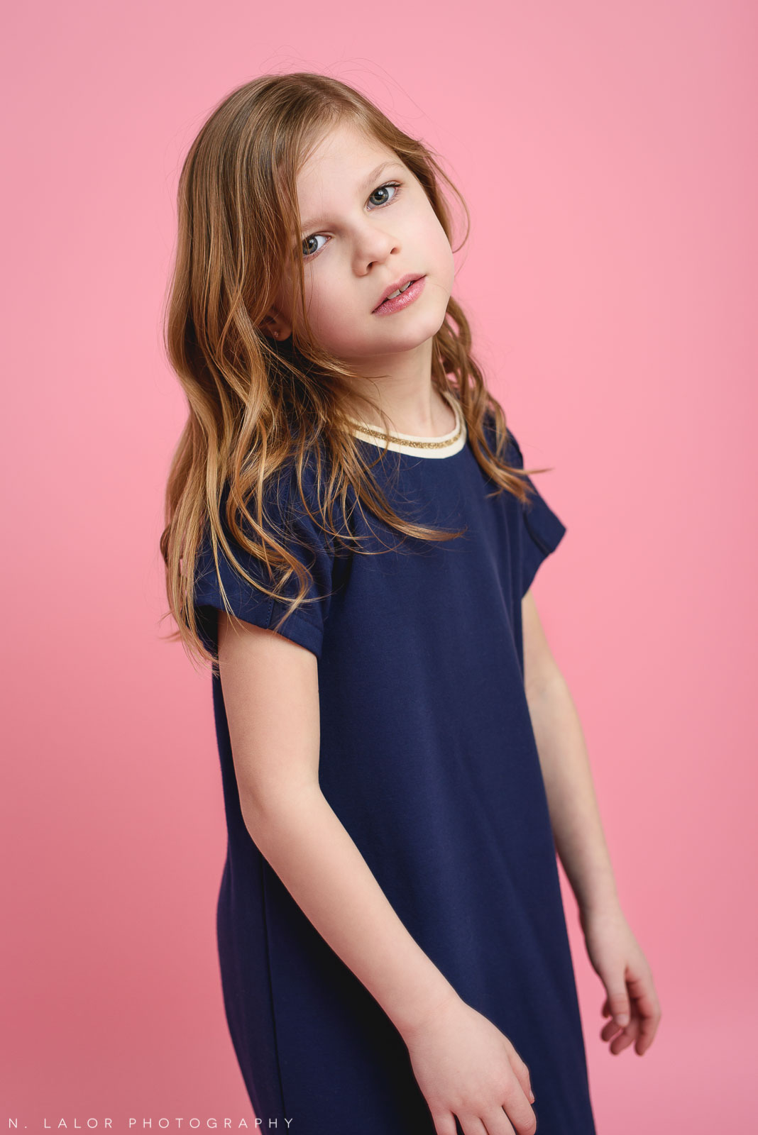 9 year old model. Tween photo session with N. Lalor Photography. Studio located in Greenwich, Connecticut.