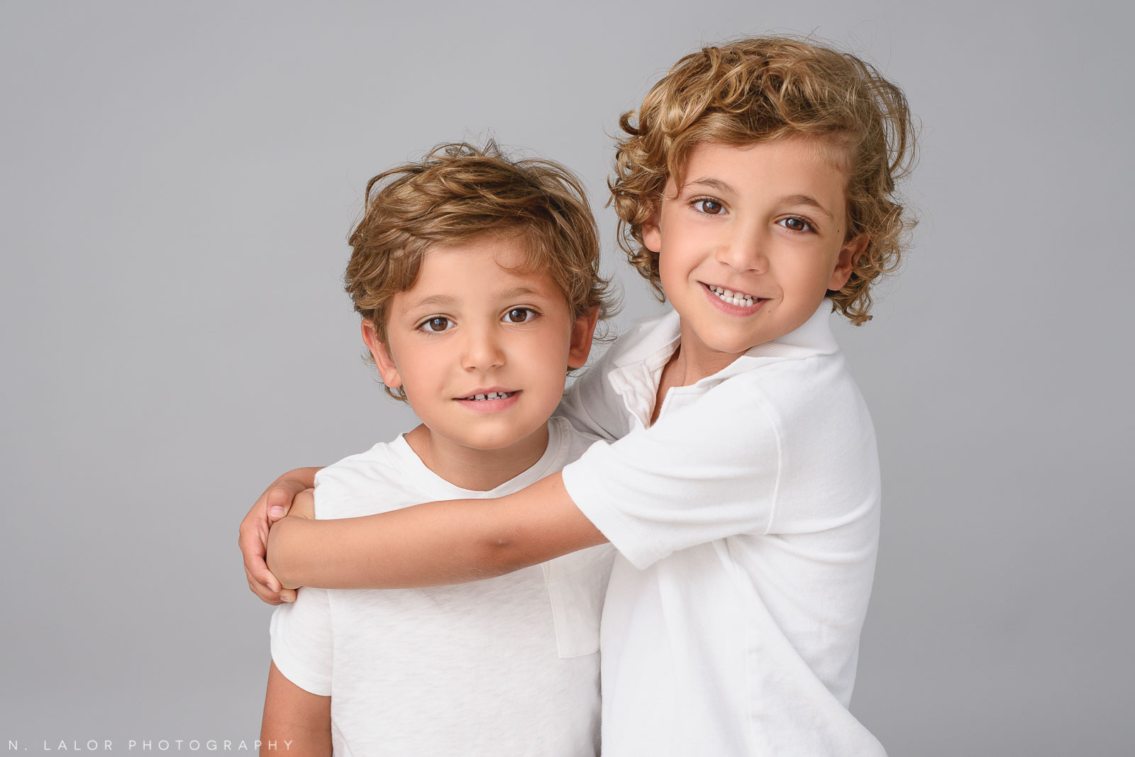 Brothers. Family photo session by N. Lalor Photography in Greenwich, CT.