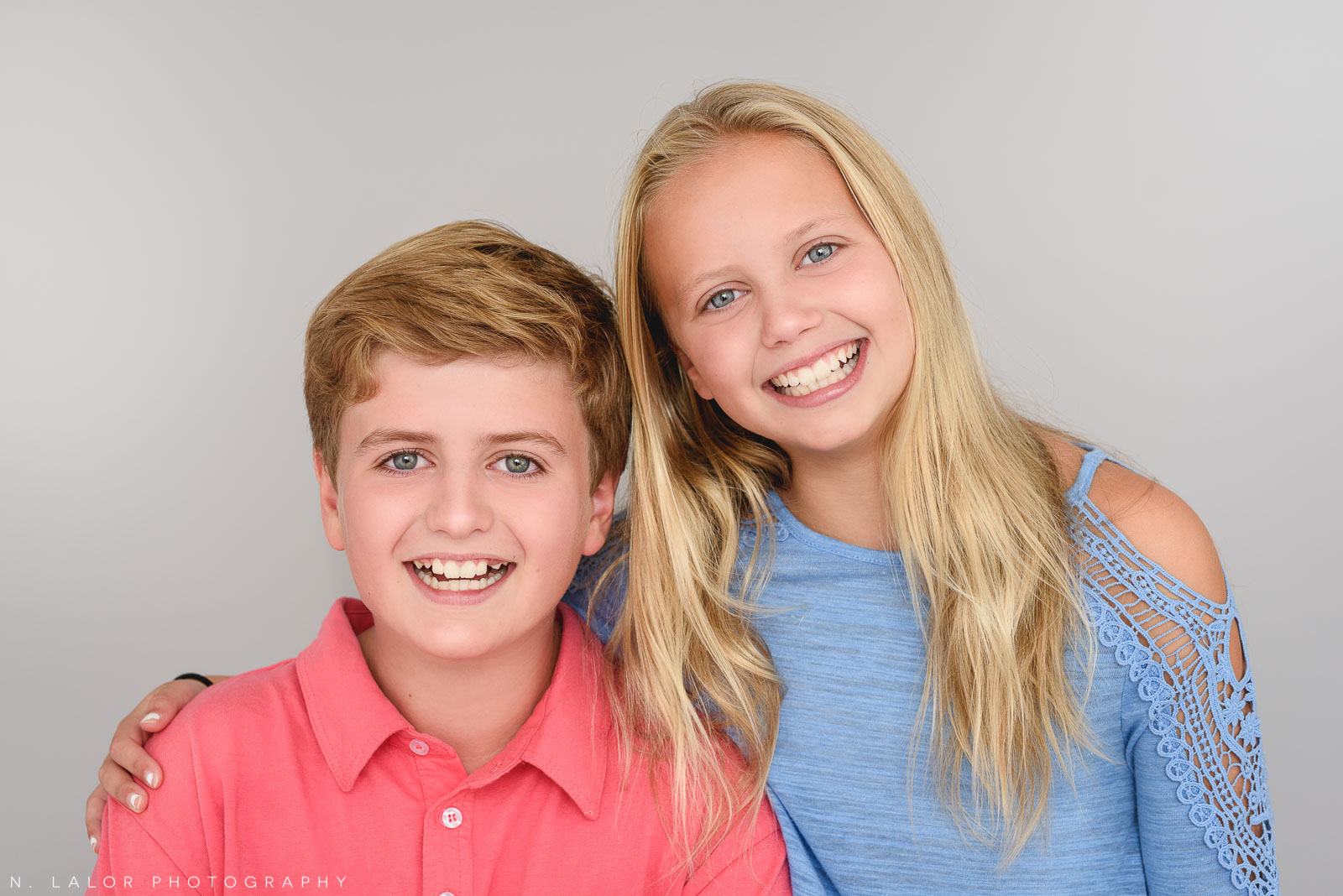Twins! Studio family photo session with N. Lalor Photography in Greenwich, Connecticut.