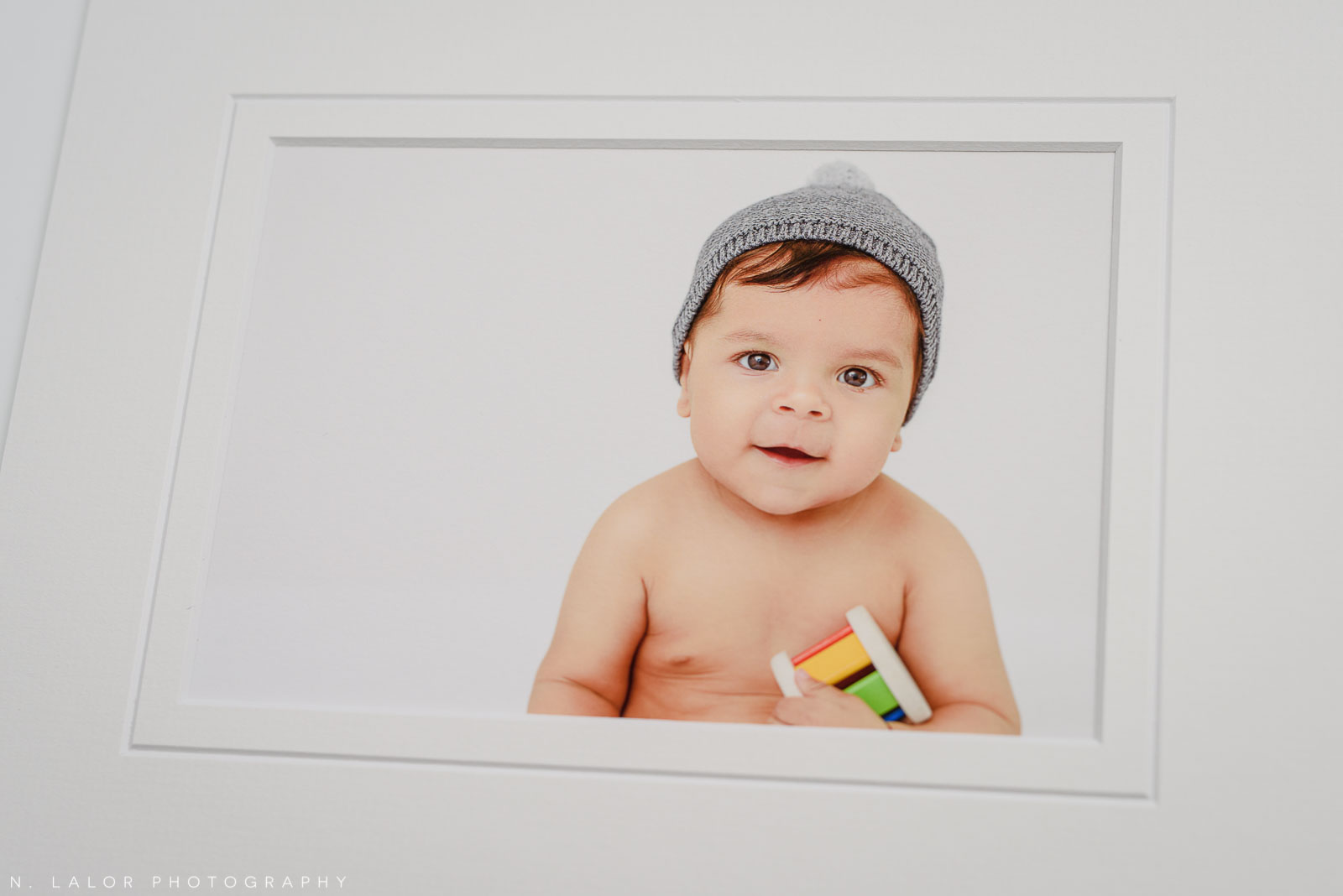 Fine art print. Studio baby photo session with N. Lalor Photography. Greenwich, Connecticut.