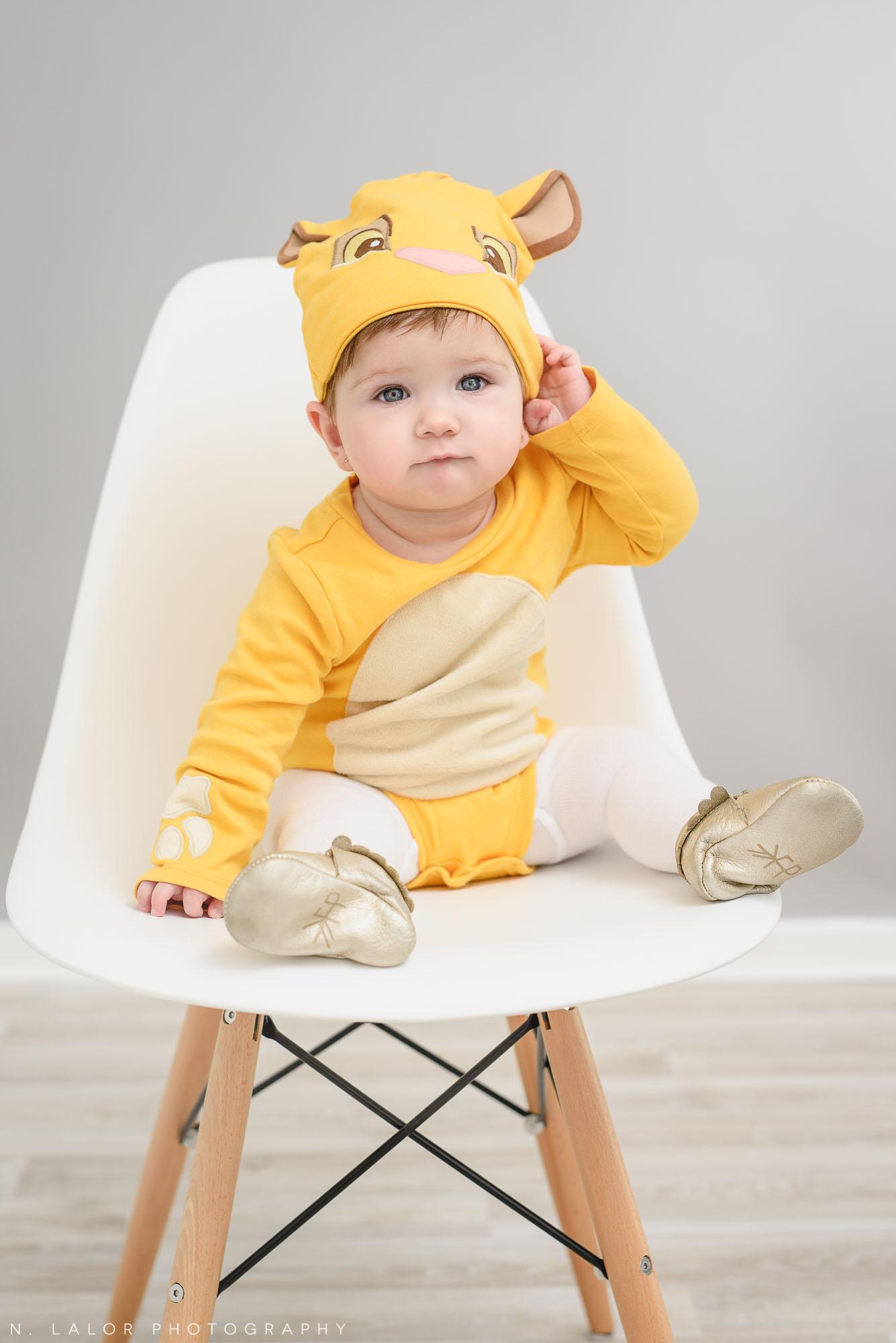 Little lion. Halloween Kids Portrait by N. Lalor Photography. Greenwich, Connecticut.