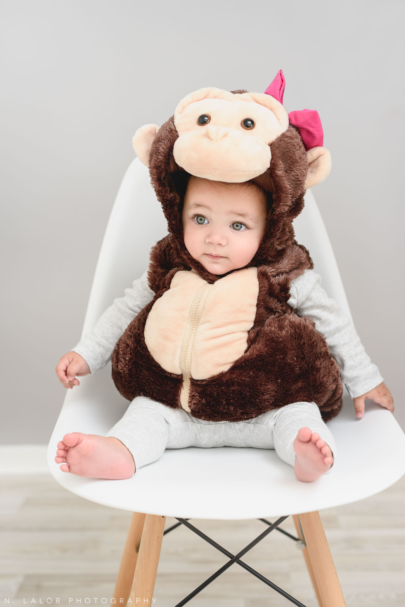Little monkey. Halloween Kids Portrait by N. Lalor Photography. Greenwich, Connecticut.