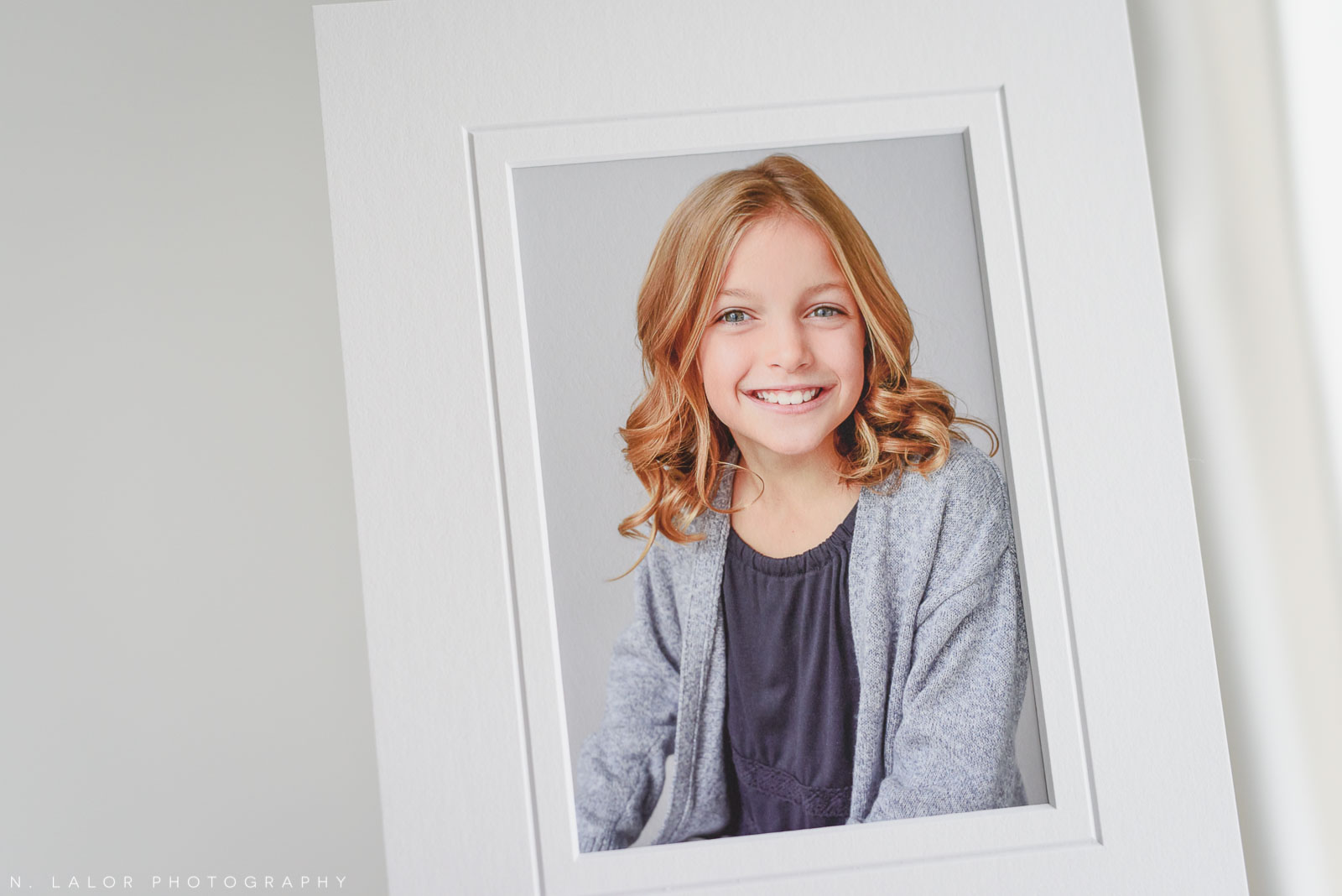 Fine art matted print. Portrait by N. Lalor Photography in Greenwich, Connecticut.