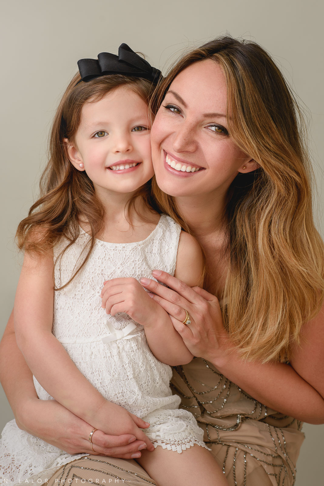 Beautiful mom with her daughter. A Mother and Daughter photoshoot with N. Lalor Photography in Greenwich, Connecticut.