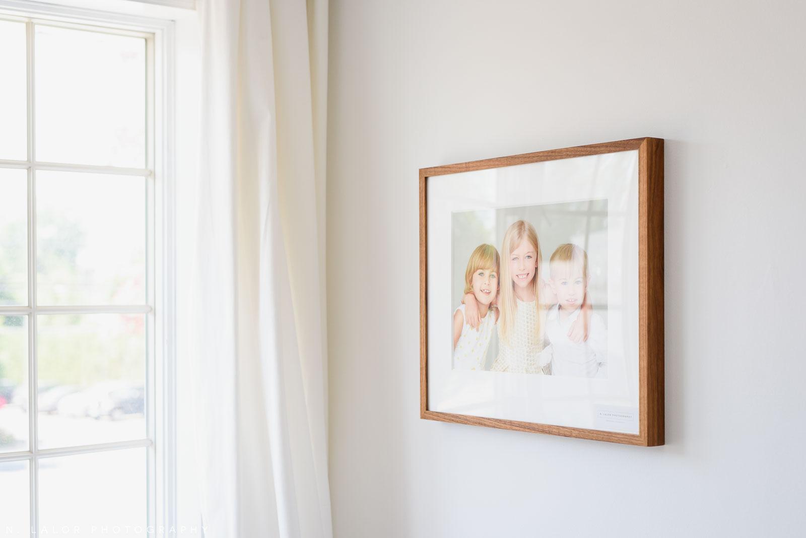 "N. Lalor Photography Studio - 11x14"" framed fine art print on the wall."