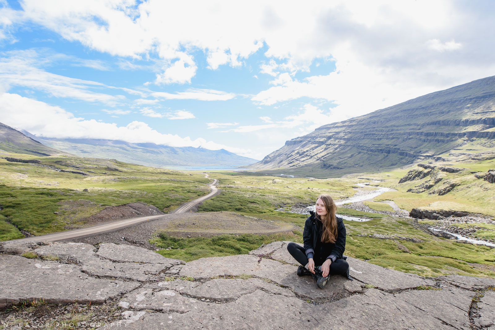 "When Iceland looks like Peru.. Sitting on a rock cliff by the side of a dirt road ""shortcut"". From my trip to Iceland in 2018. Photograph by Nataliya Lalor."