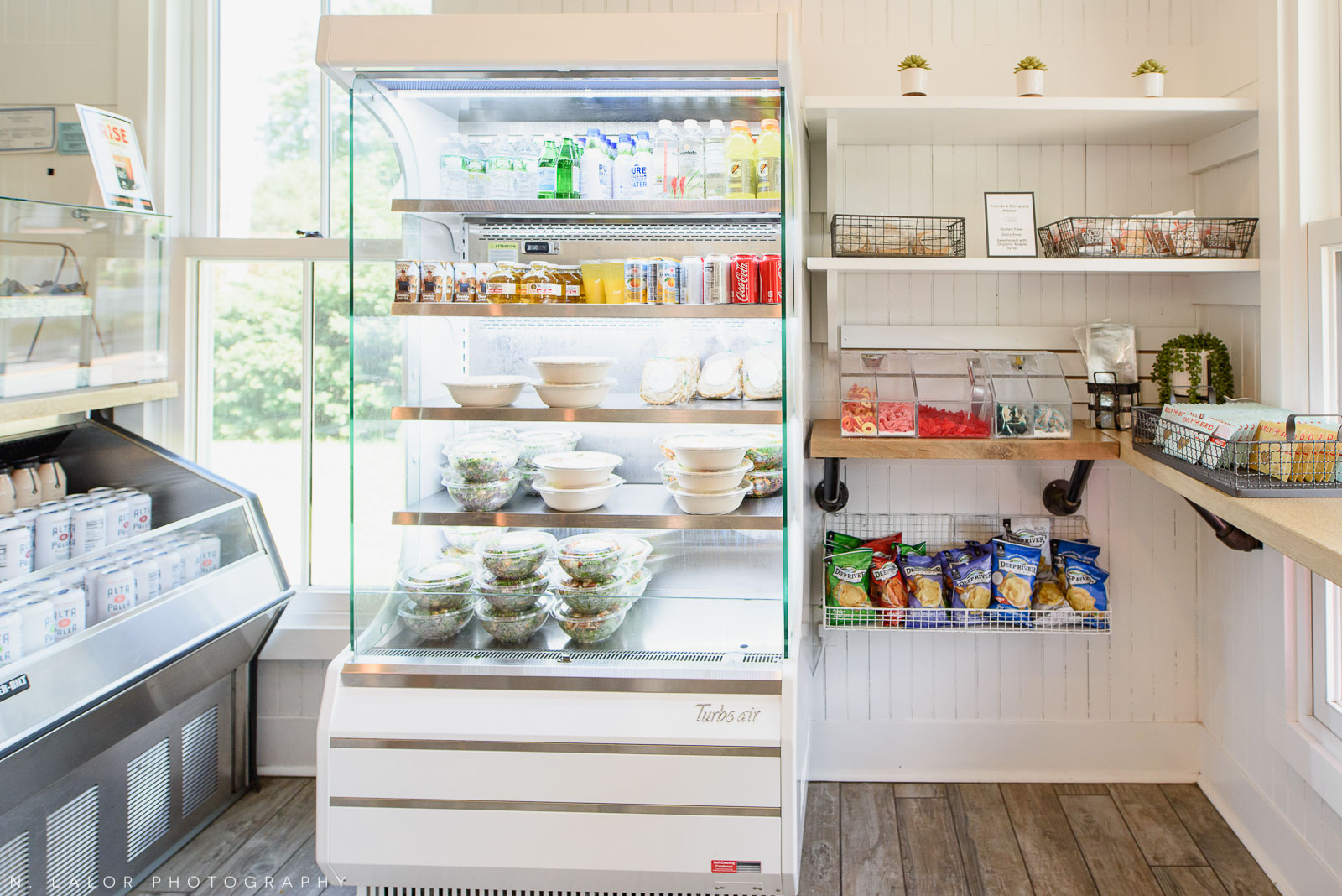Salads, drinks, and breakfast items. Ada's Kitchen + Coffee in Riverside, Connecticut. Image by N. Lalor Photography.