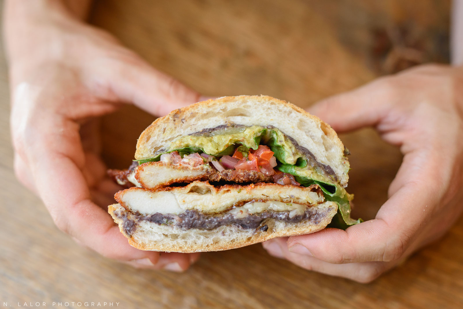Chicken katsu sandwich. Ada's Kitchen + Coffee in Riverside, Connecticut. Image by N. Lalor Photography.