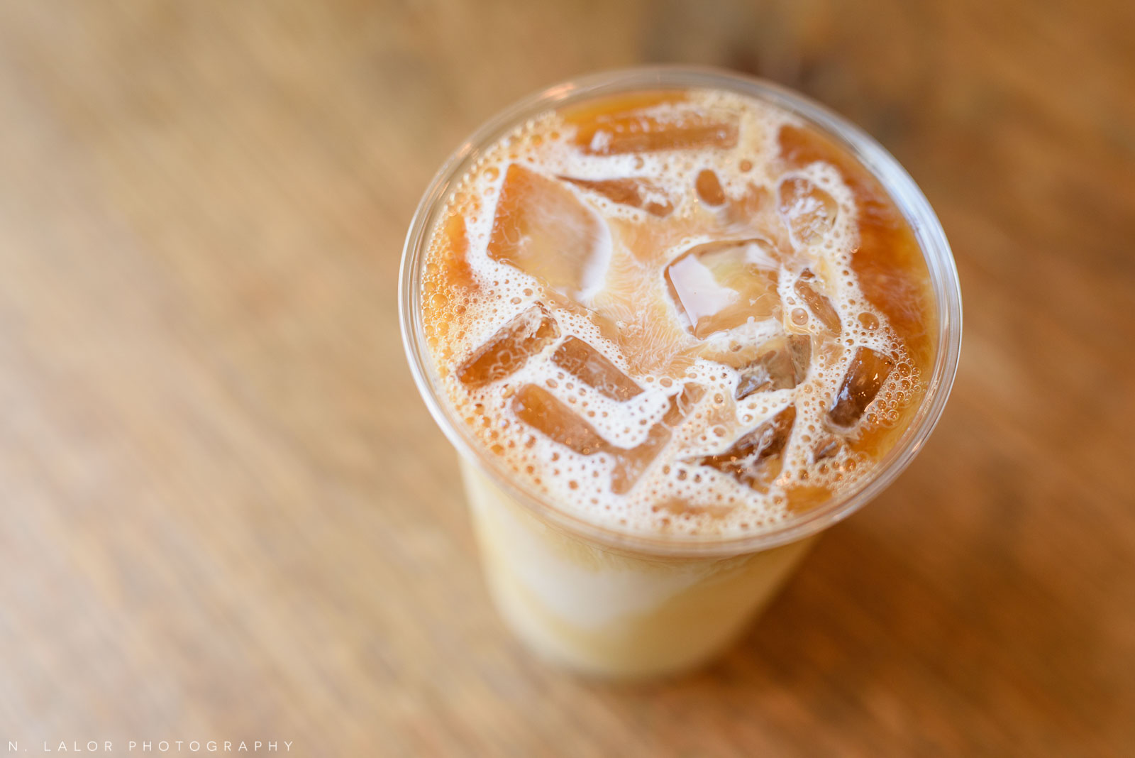 Ice coffee. Ada's Kitchen + Coffee in Riverside, Connecticut. Image by N. Lalor Photography.
