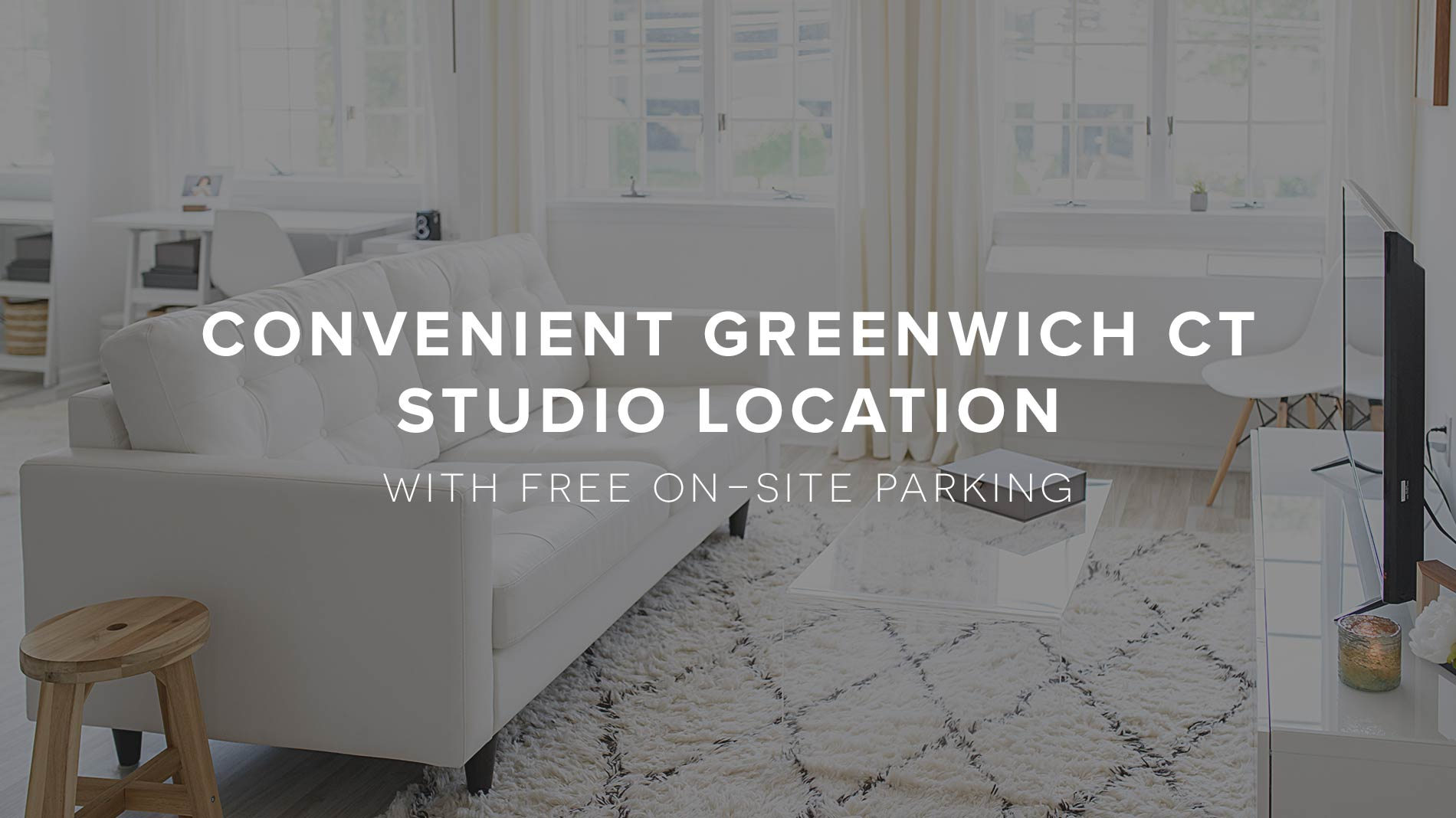Convenient Greenwich CT Studio Location with on-site free parking