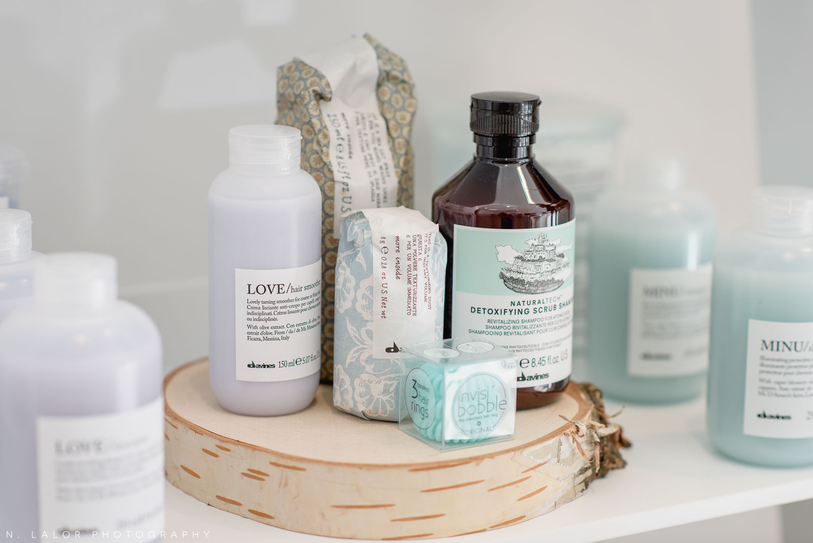 Davines product line at Haus of Pretty. Photo by N. Lalor Photography.