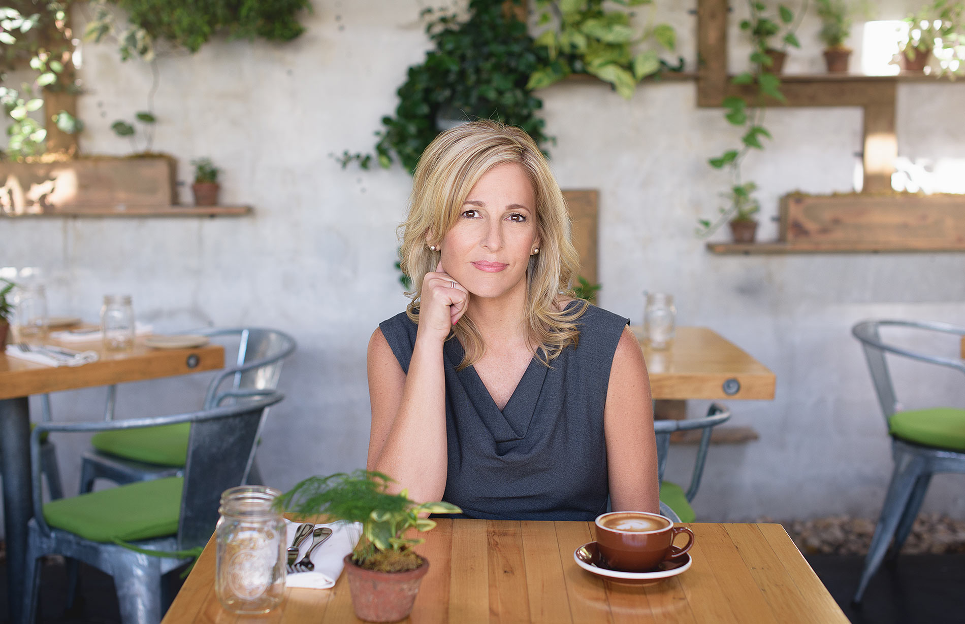 Image of a CEO at Terrain Cafe in Westport, Connecticut. Personal Branding portrait by N. Lalor Photography.