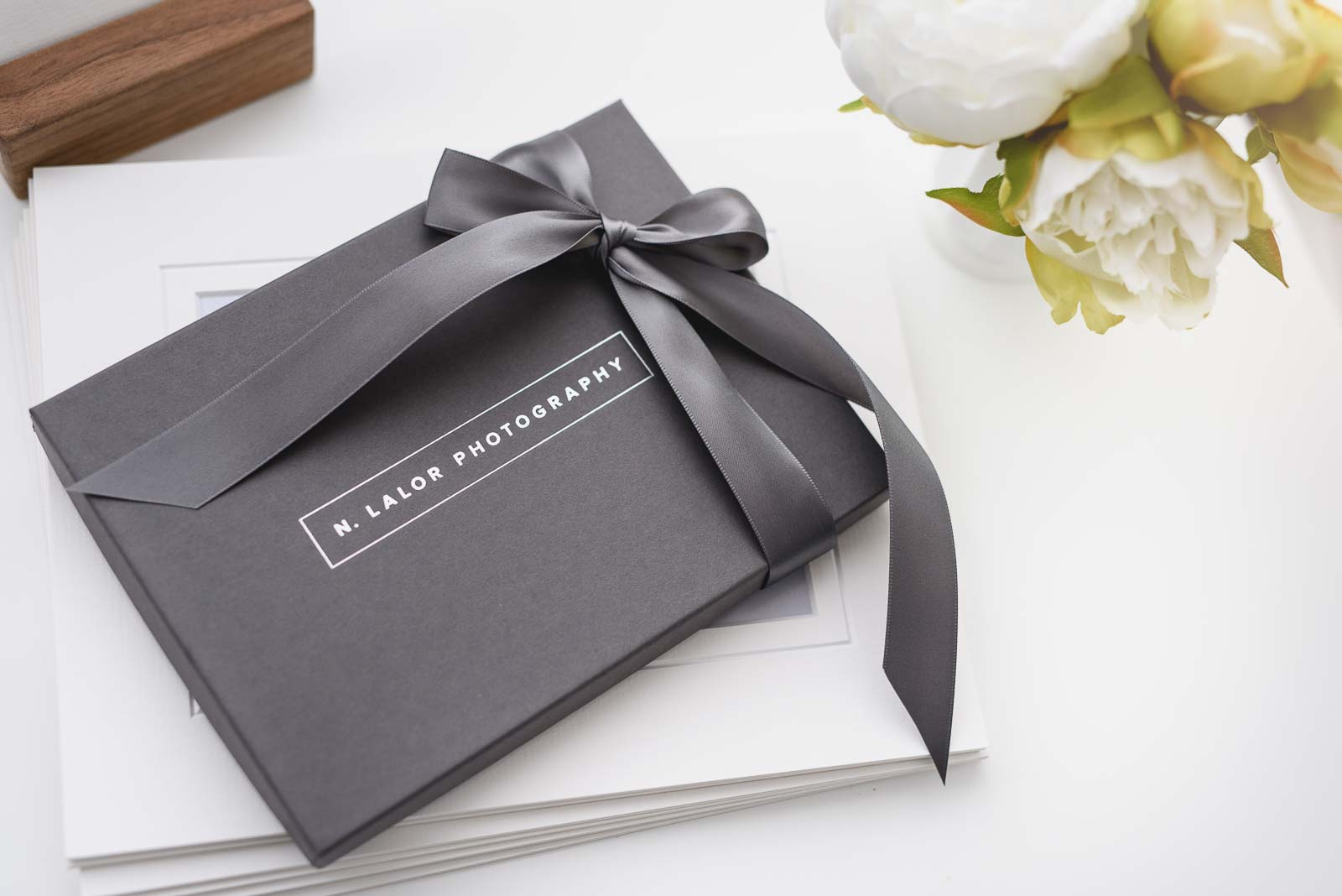 Image of a photography gift box from N. Lalor Photography in Greenwich, Connecticut.