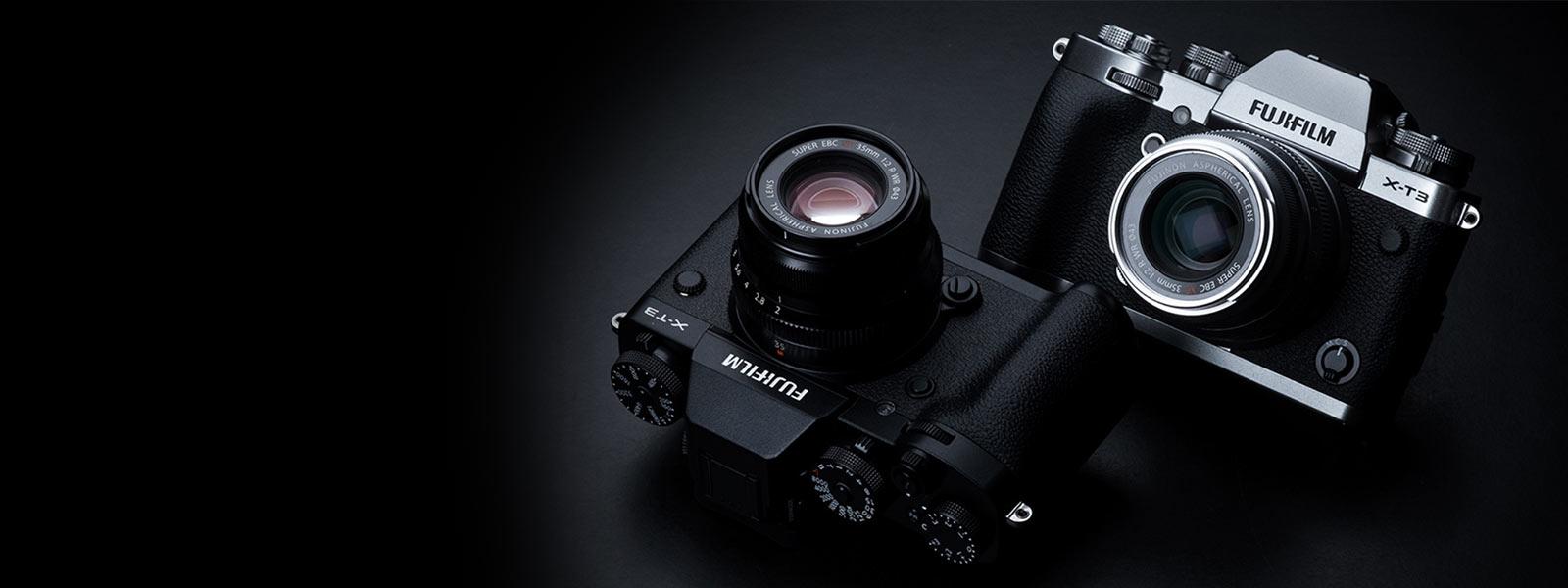 Image of Fuji cameras, courtesy of fujifilm.com