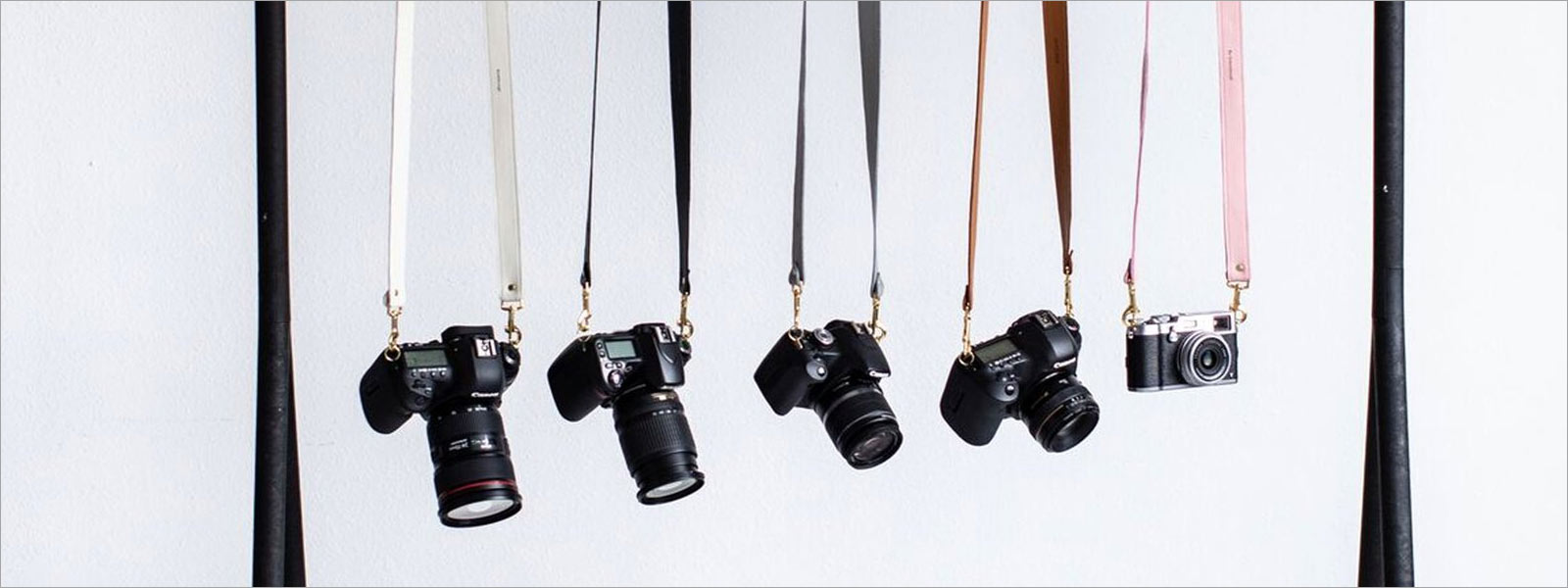 Image of personalized colorful camera straps, courtesy of FotoStrap.com