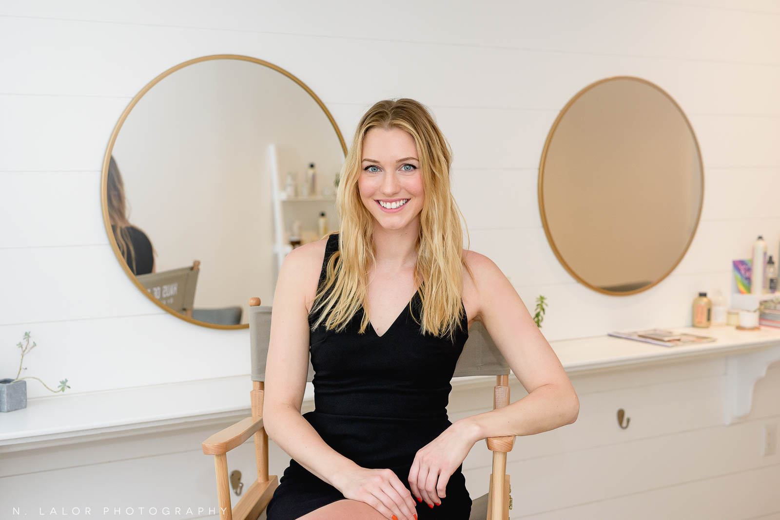Kelsey Morey, founder of Haus of Pretty Salon in Westport, CT. Portrait by N. Lalor Photography.