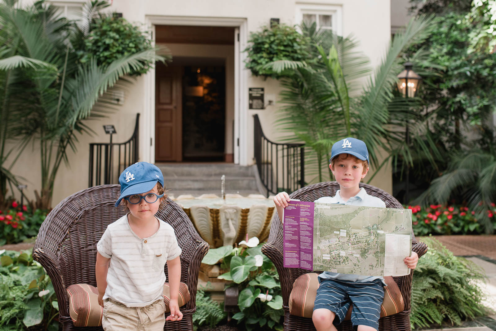 Photo of my two boys at  Longwood Gardens  in Philadelphia. This shot took about 2 seconds.