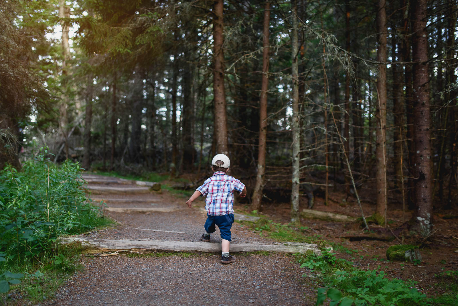 Photo from our family vacation at Acadia National Park in Maine. Sometimes the best way to photograph your kids is by letting them do their thing and following close behind.