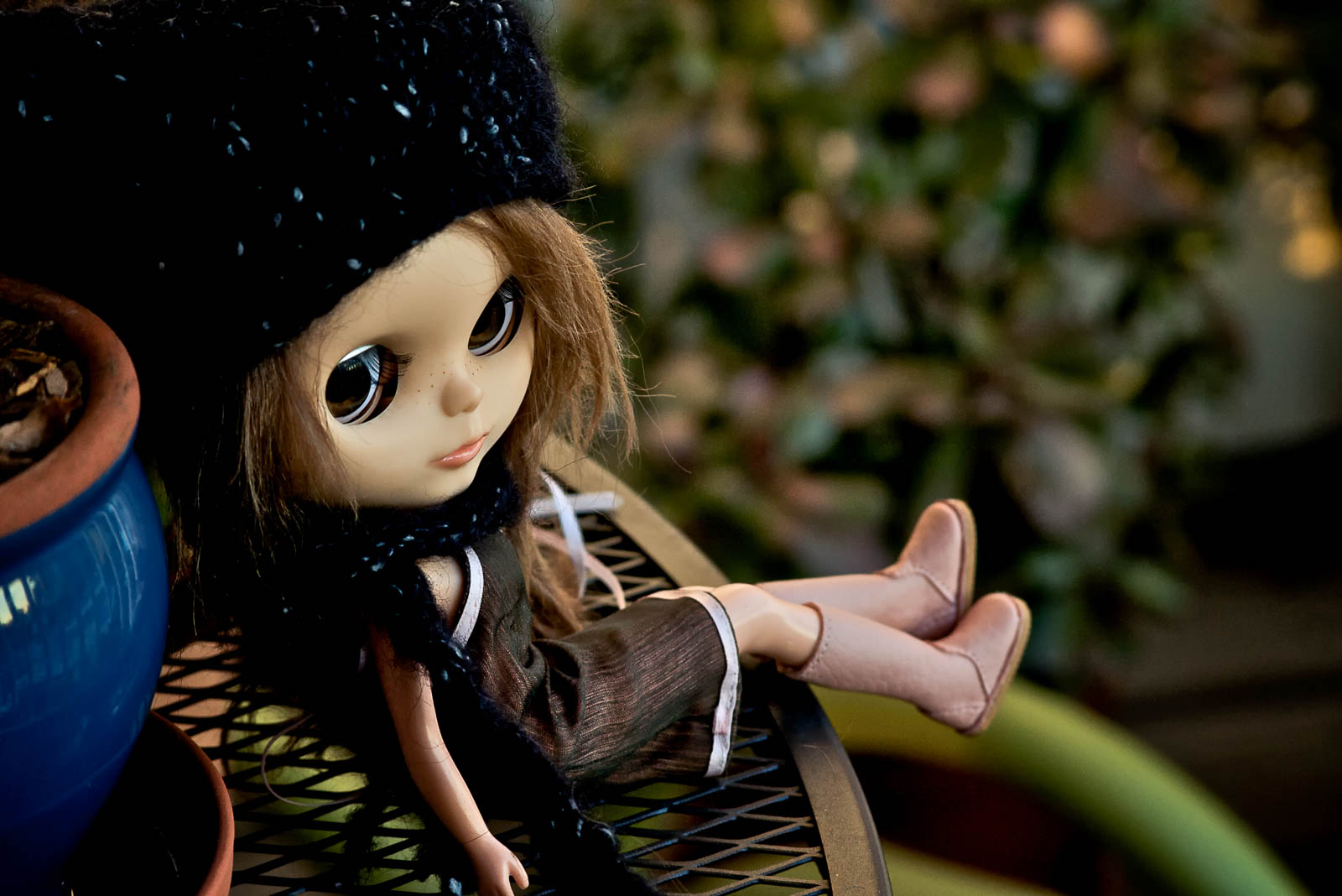 """The """"one of a kind"""" Blythe doll that I personally customized - this was back when I actually had some free time."""