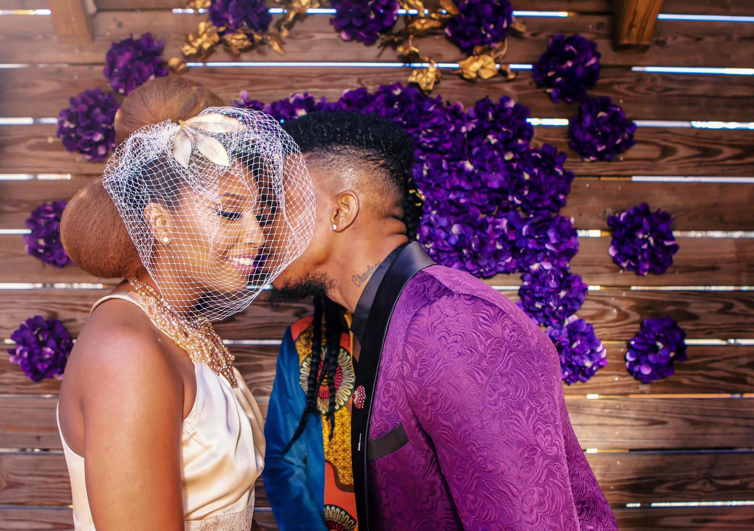 Luxe LeBlanc_Wakandan Wedding_Bride and Groom Whisper.jpg